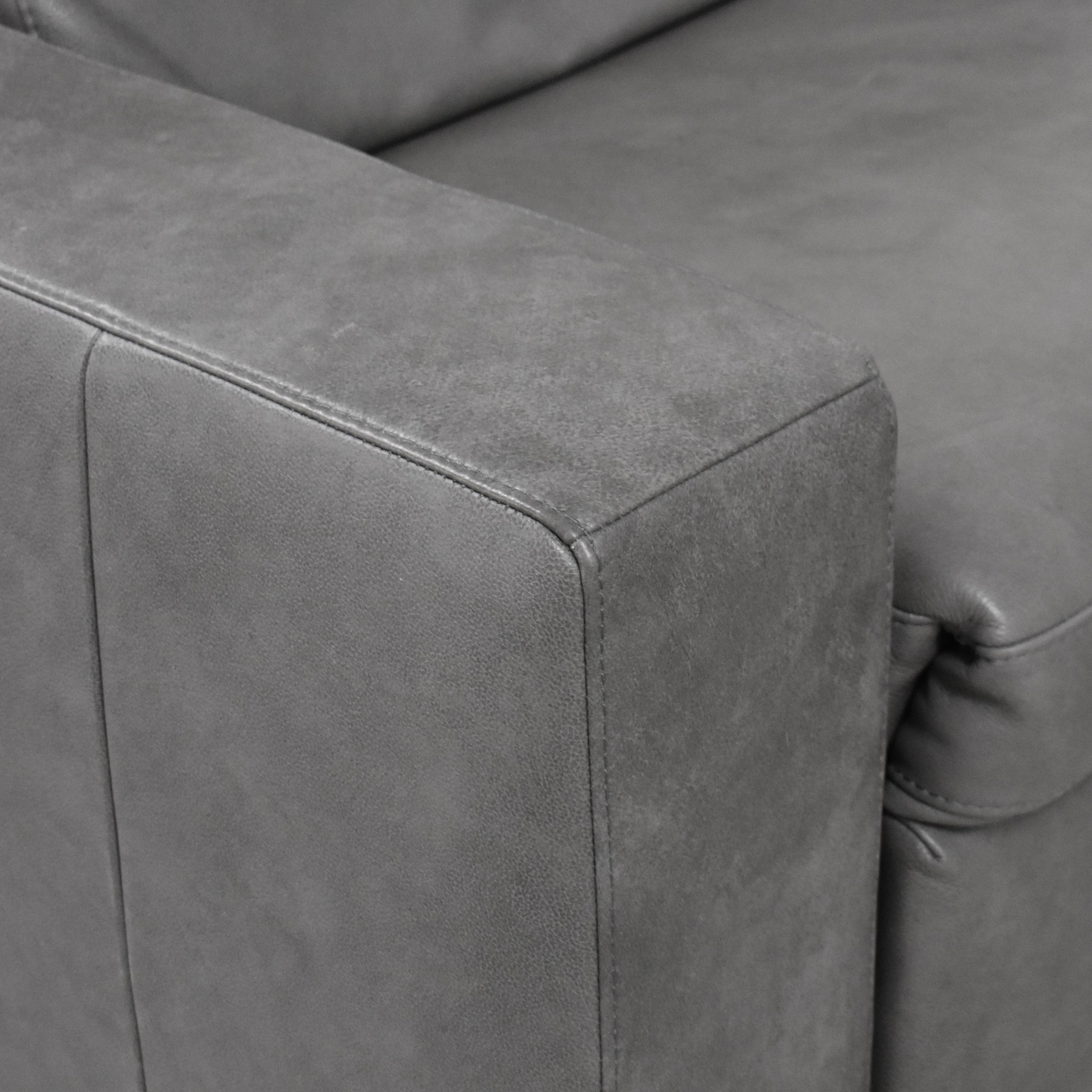 buy West Elm Enzo Four Piece Reclining Sectional Sofa West Elm Sectionals