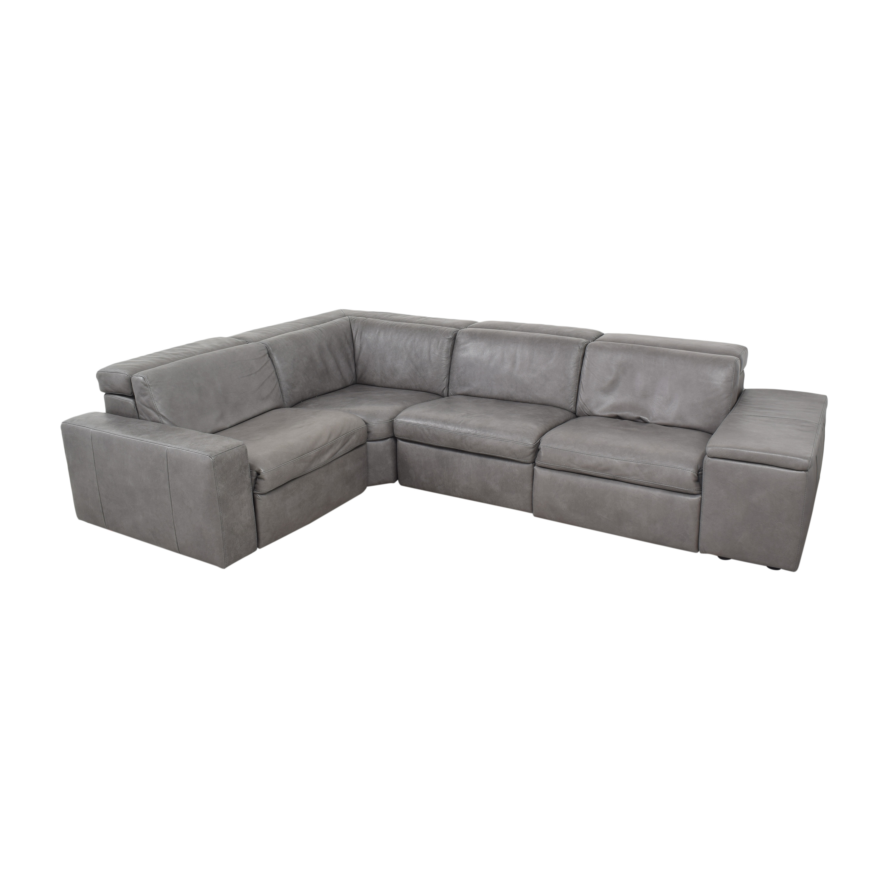 West Elm West Elm Enzo Four Piece Reclining Sectional Sofa Sectionals