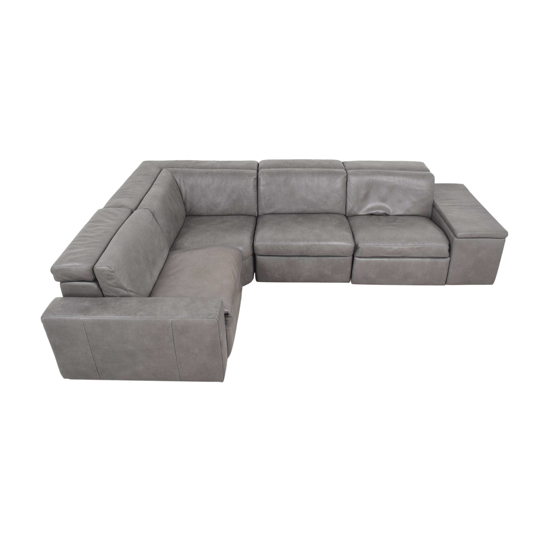 West Elm West Elm Enzo Four Piece Reclining Sectional Sofa price