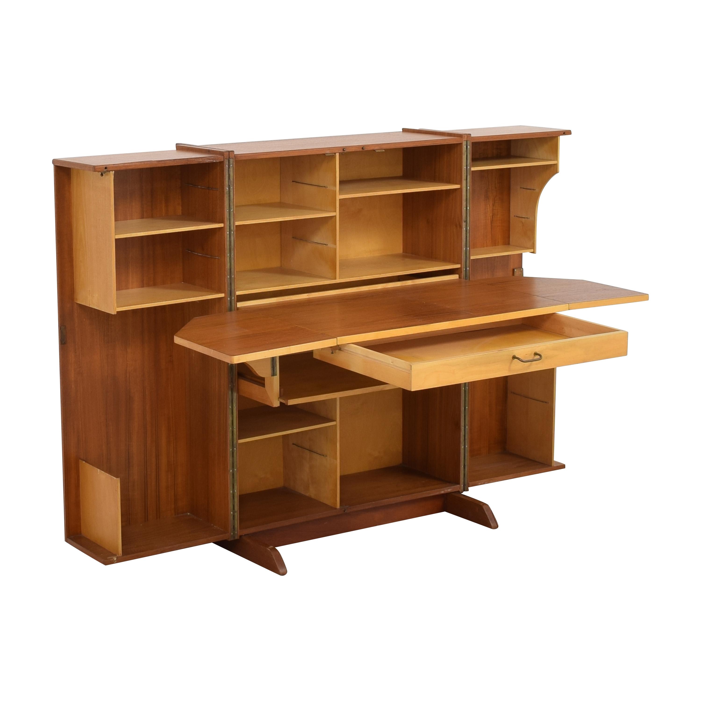 Mid-Century Modern Magic Box Folding Desk