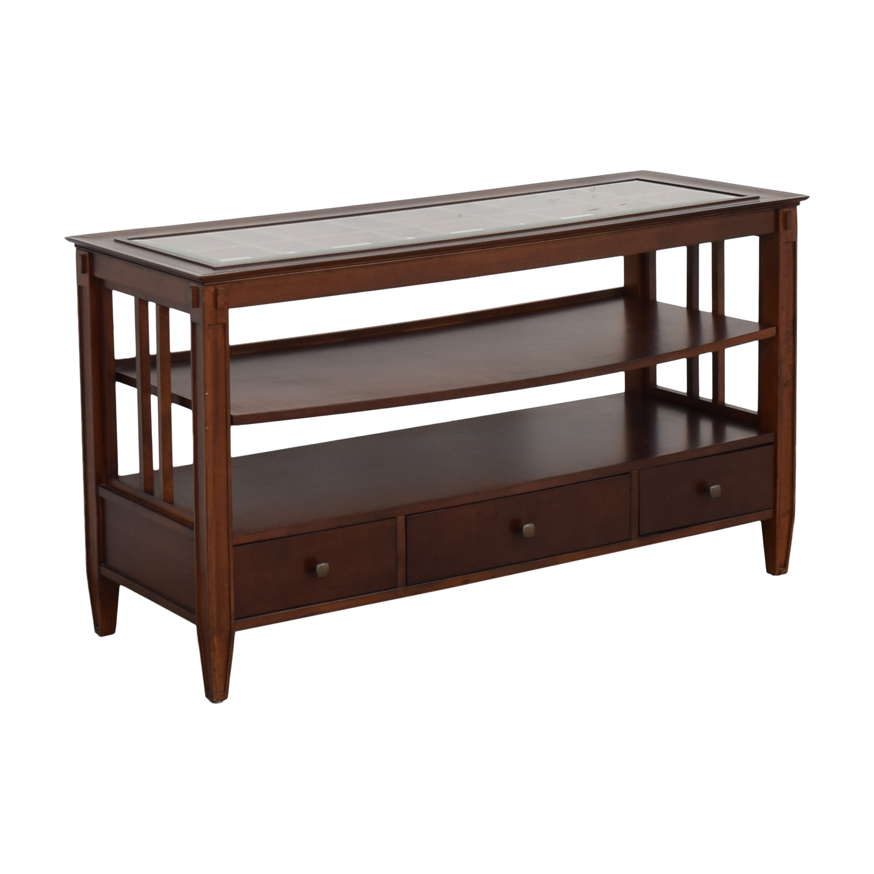 Macy's Three Drawer Console Table / Storage