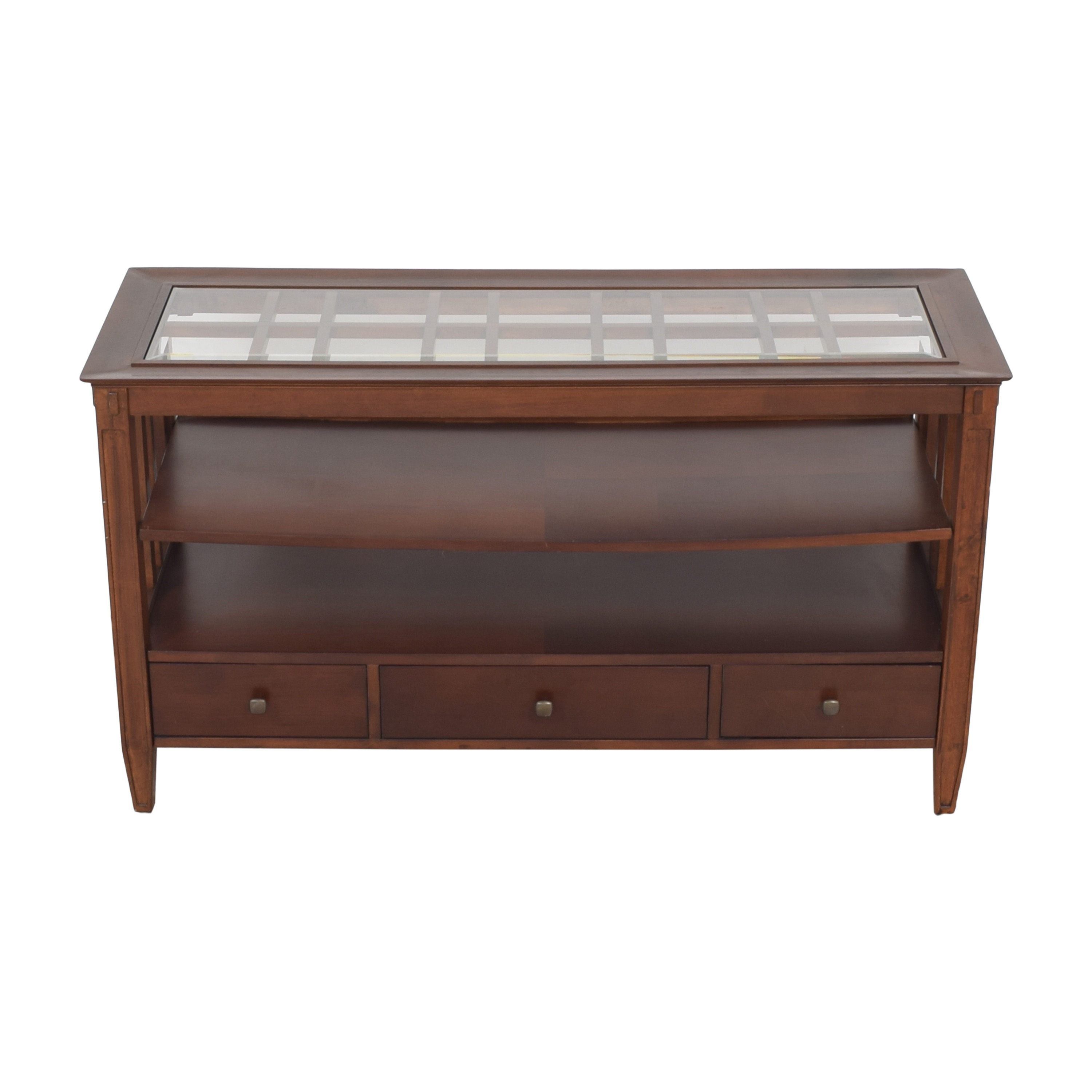 shop Macy's Three Drawer Console Table Macy's