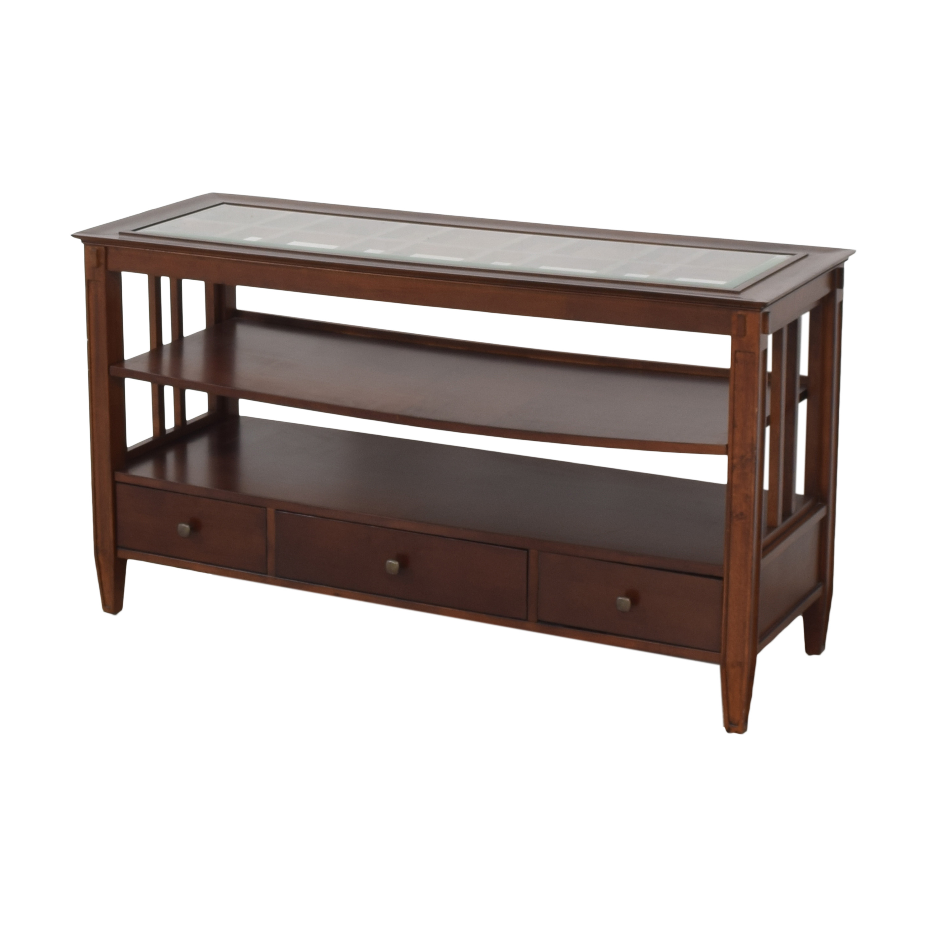 Macy's Macy's Three Drawer Console Table