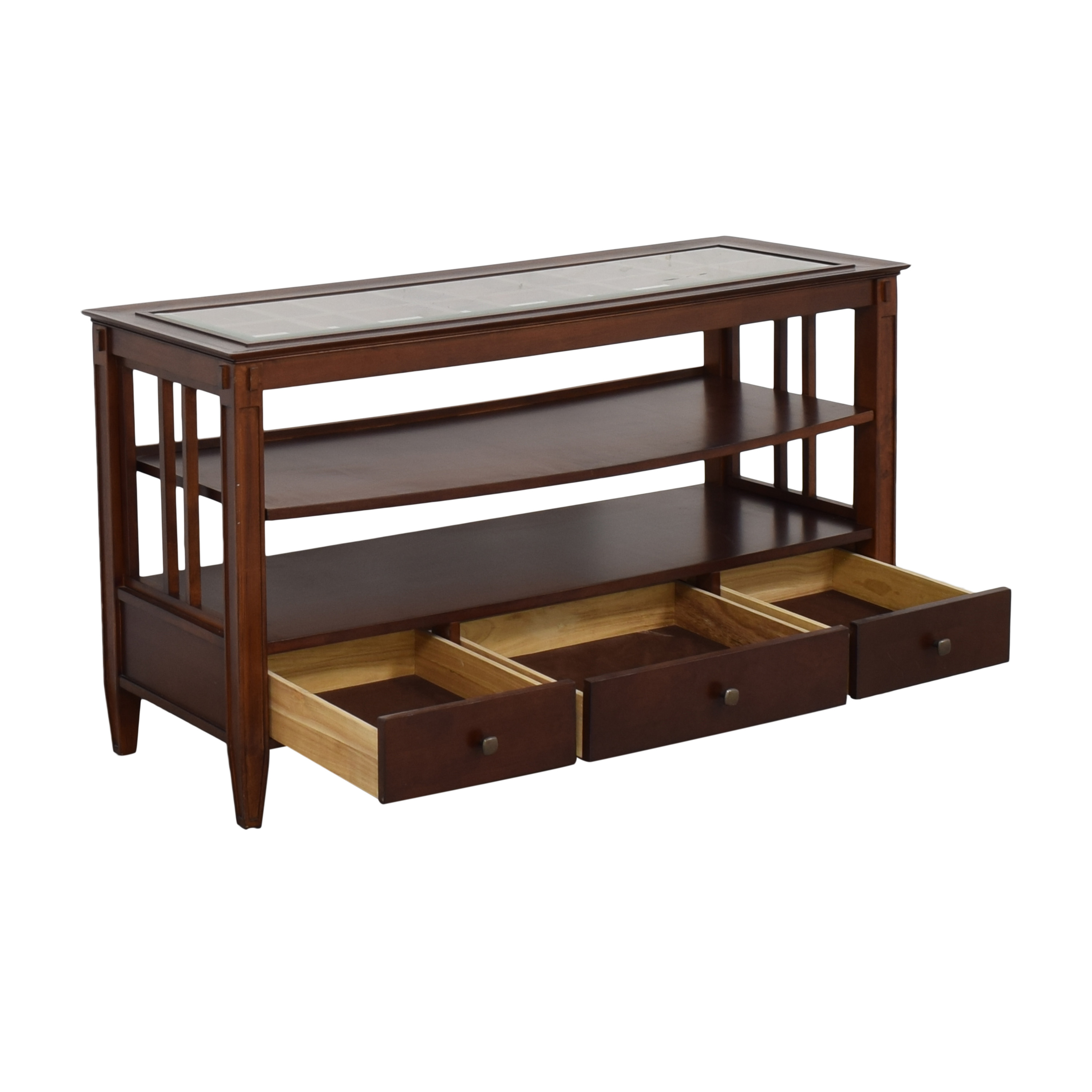 buy Macy's Three Drawer Console Table Macy's Cabinets & Sideboards