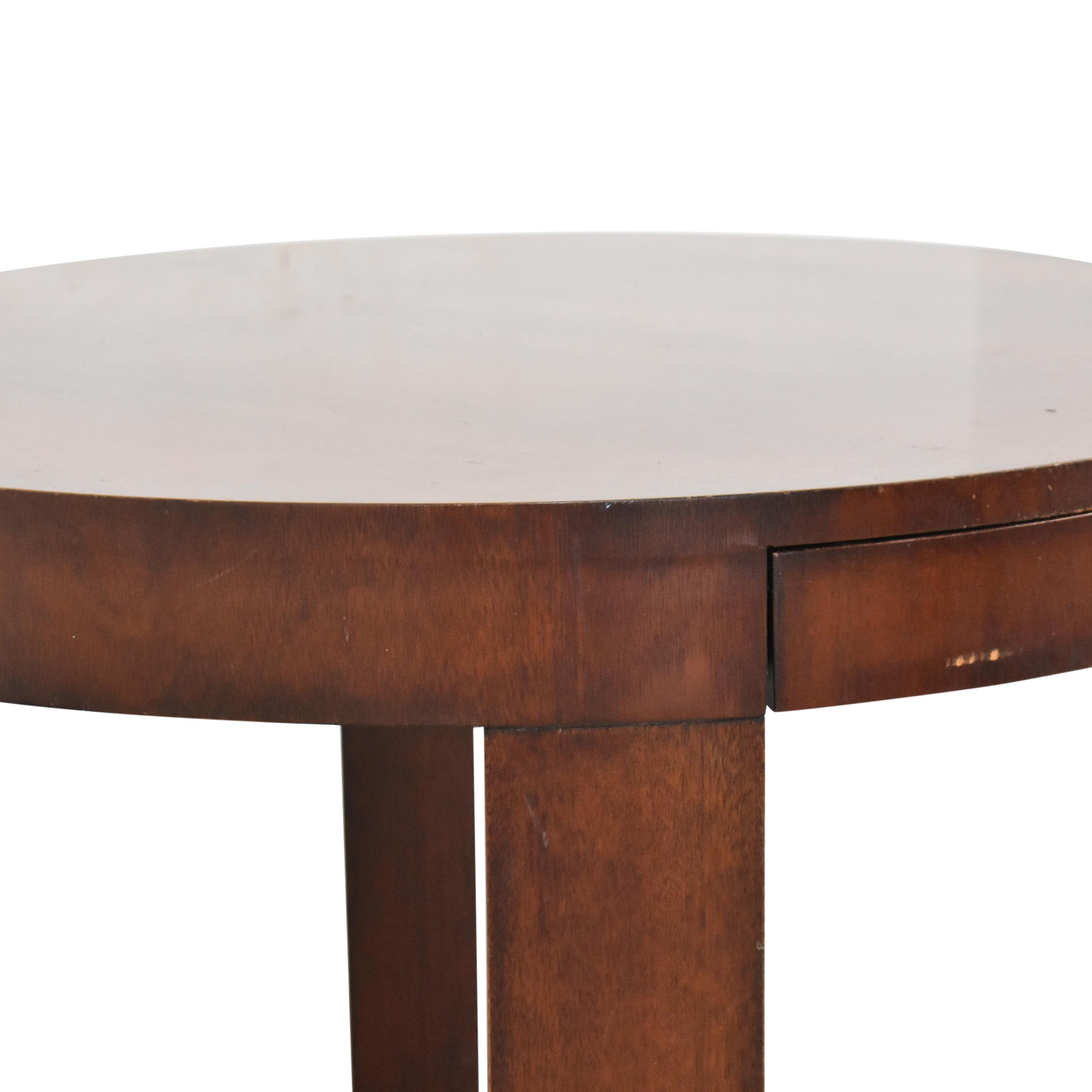 Ralph Lauren Home Ralph Lauren Home Round Single Drawer End Table for sale