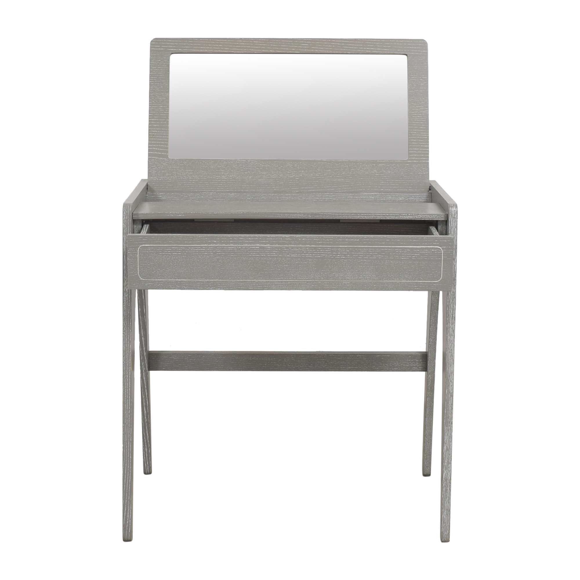 shop CB2 Tango Vanity Desk with Mirror CB2 Accent Tables