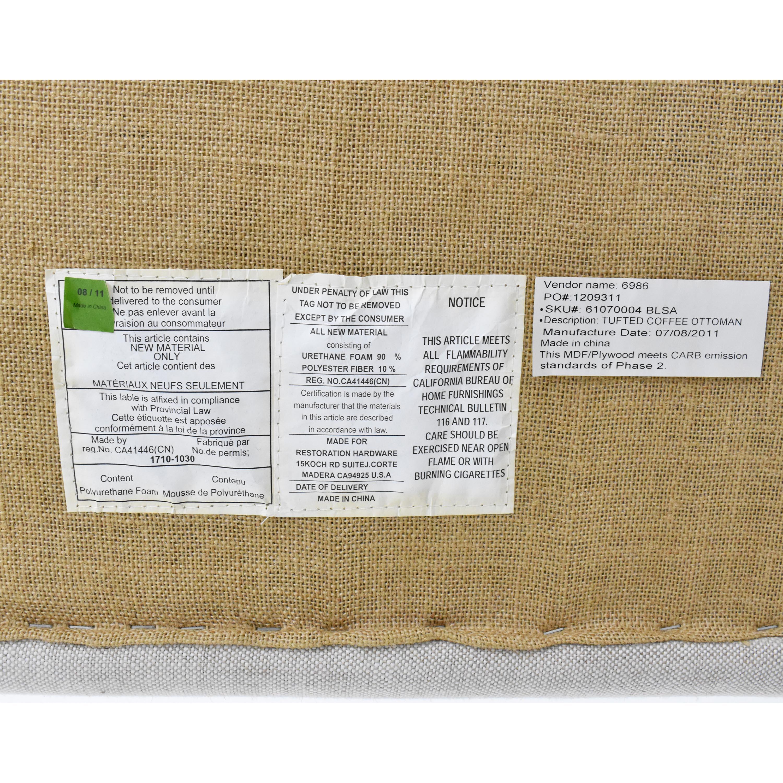 shop Restoration Hardware Tufted Coffee Ottoman Restoration Hardware Ottomans