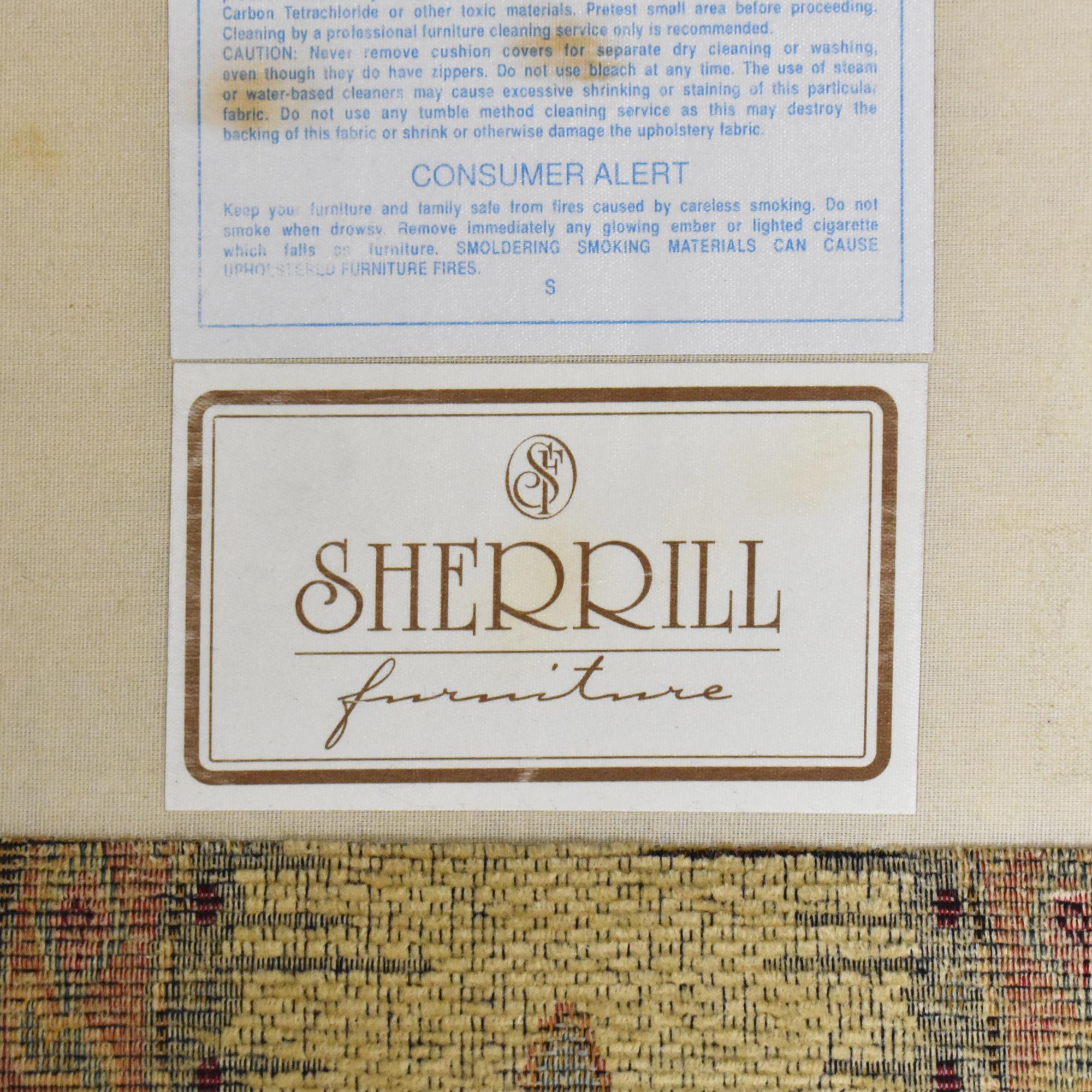 Sherrill Furniture Sherrill Furniture Three Cushion Tapestry Sofa ct