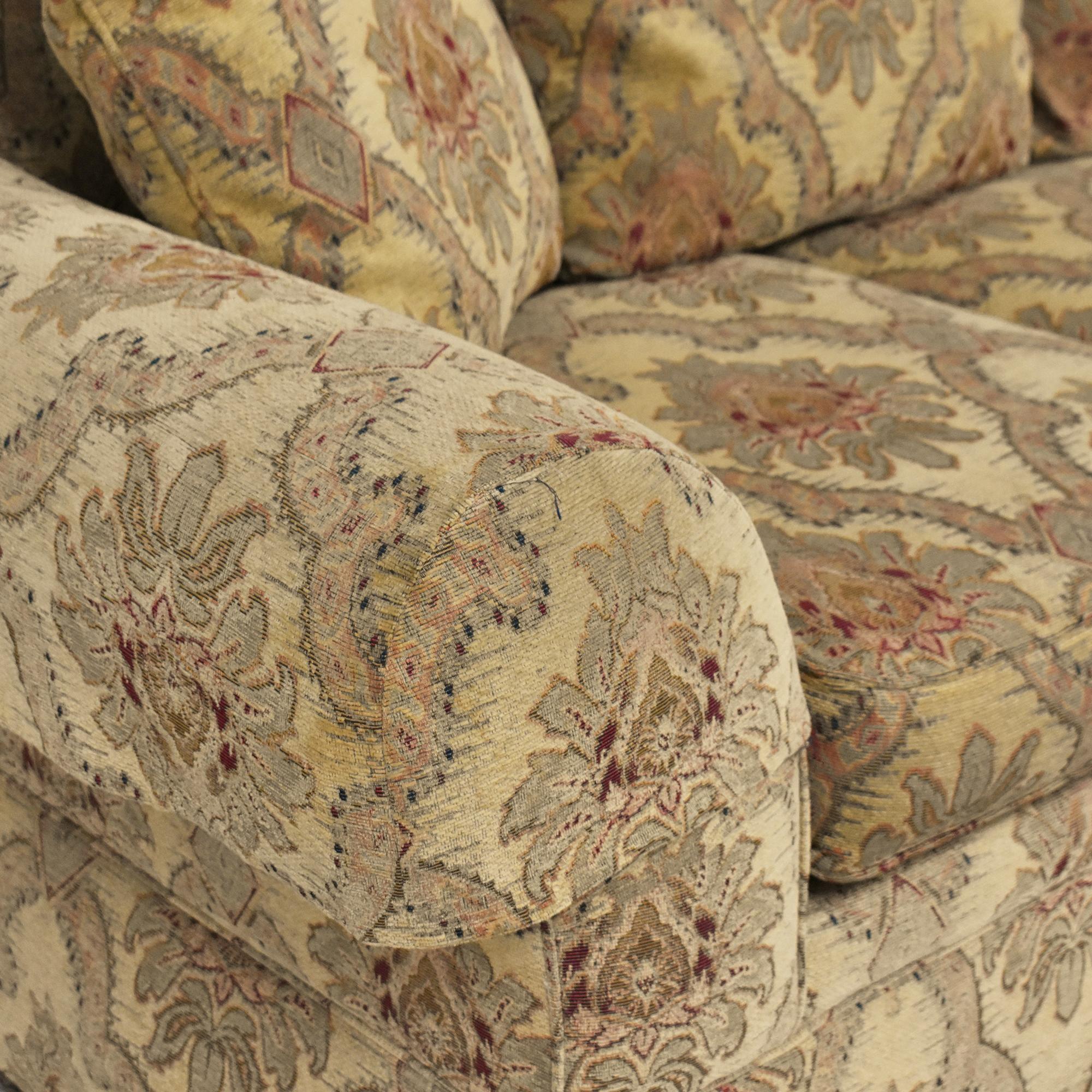 Sherrill Furniture Sherrill Furniture Three Cushion Tapestry Sofa Classic Sofas