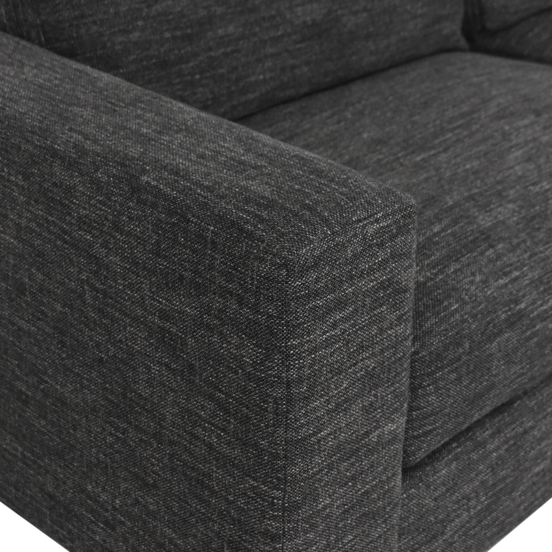 shop West Elm Urban Two Cushion Sofa West Elm