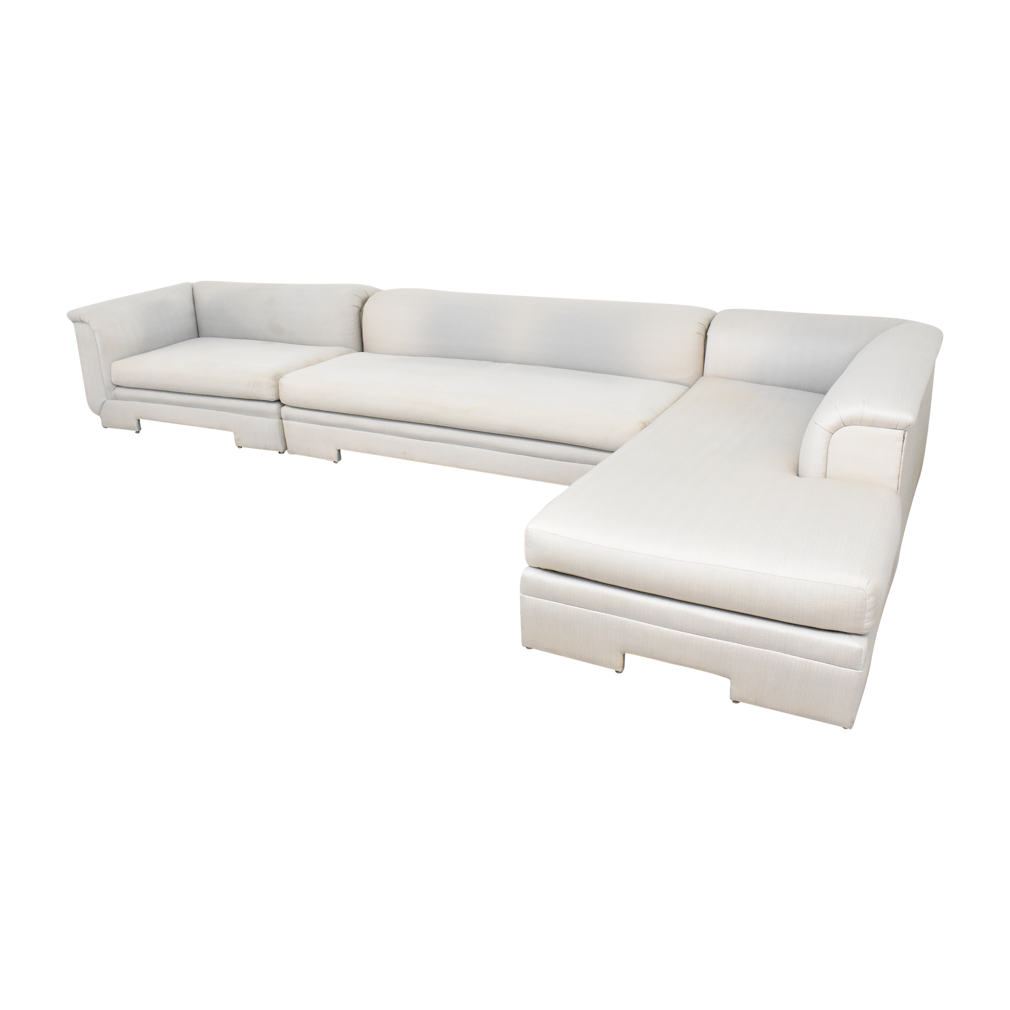 shop Avento Designs Modern Three Piece Chaise Sectional Sofa Avento Designs Sectionals