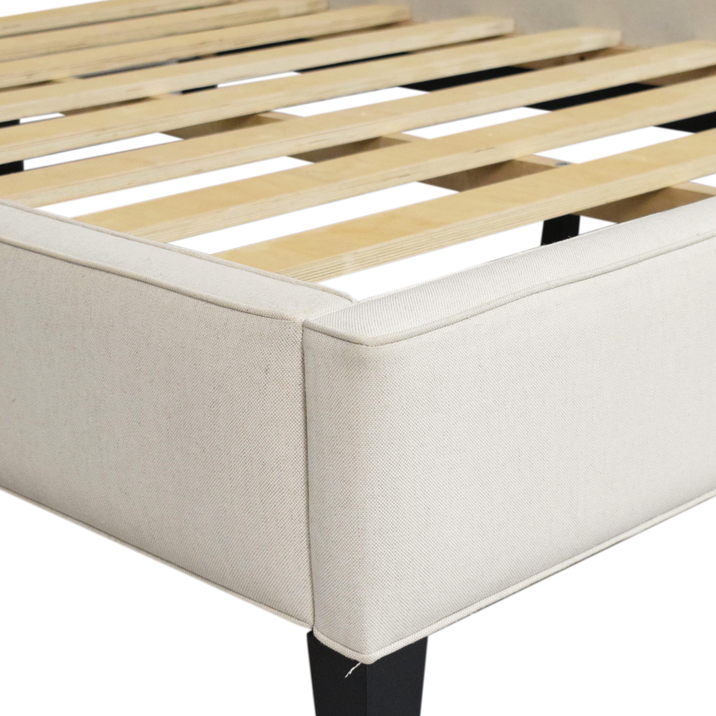 buy Crate & Barrel Colette Upholstered Queen Bed Crate & Barrel Bed Frames