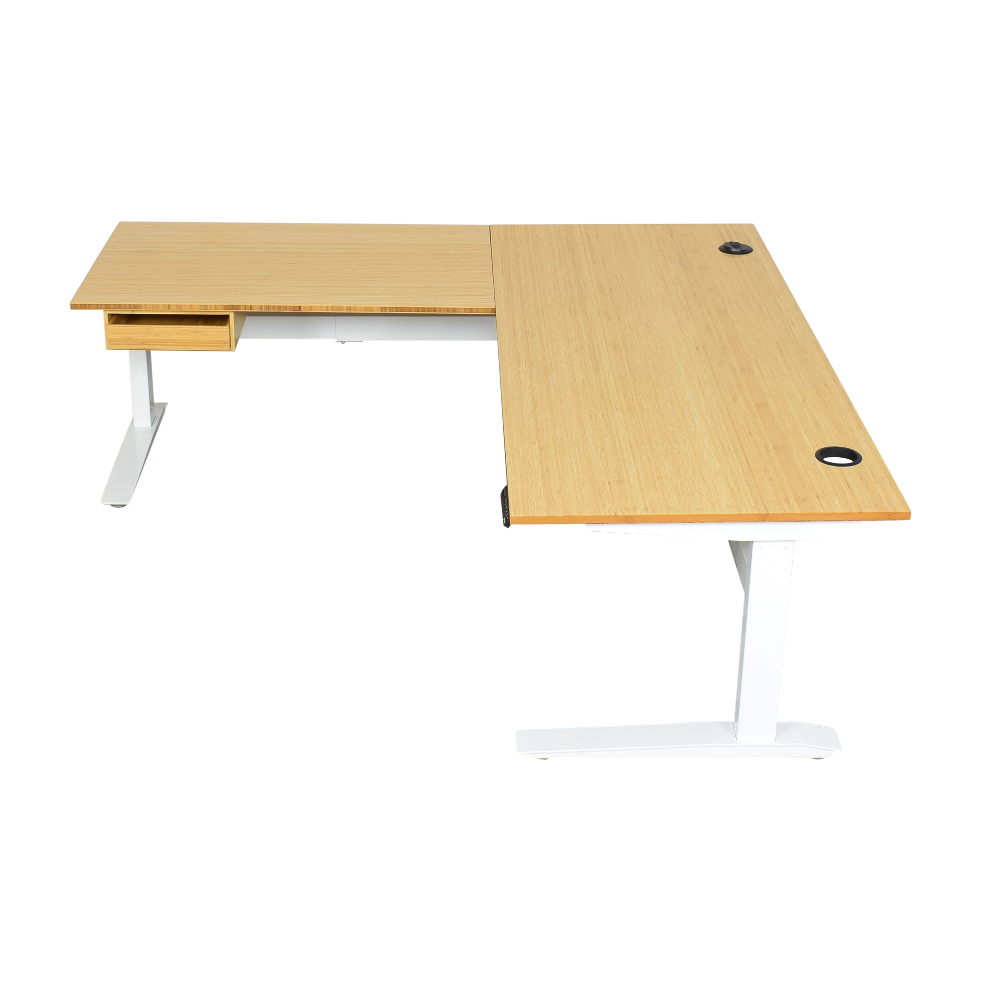 Fully Fully Jarvis L-Shaped Standing Desk with Drawer second hand