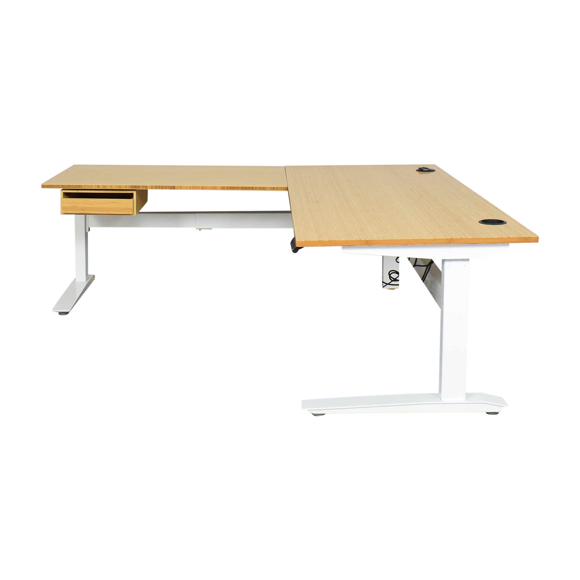 shop Fully Jarvis L-Shaped Standing Desk with Drawer Fully Tables