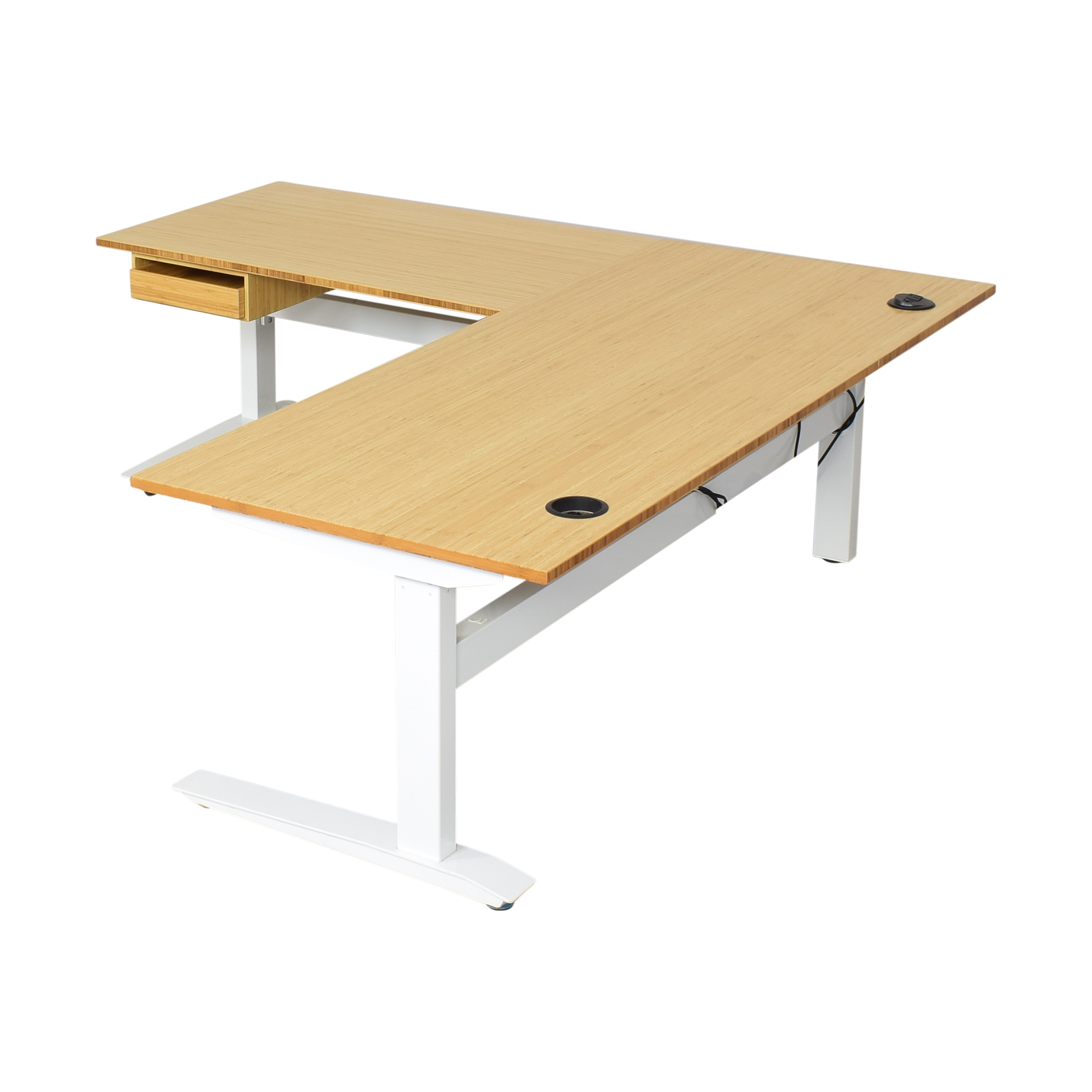 Fully Fully Jarvis L-Shaped Standing Desk with Drawer nj