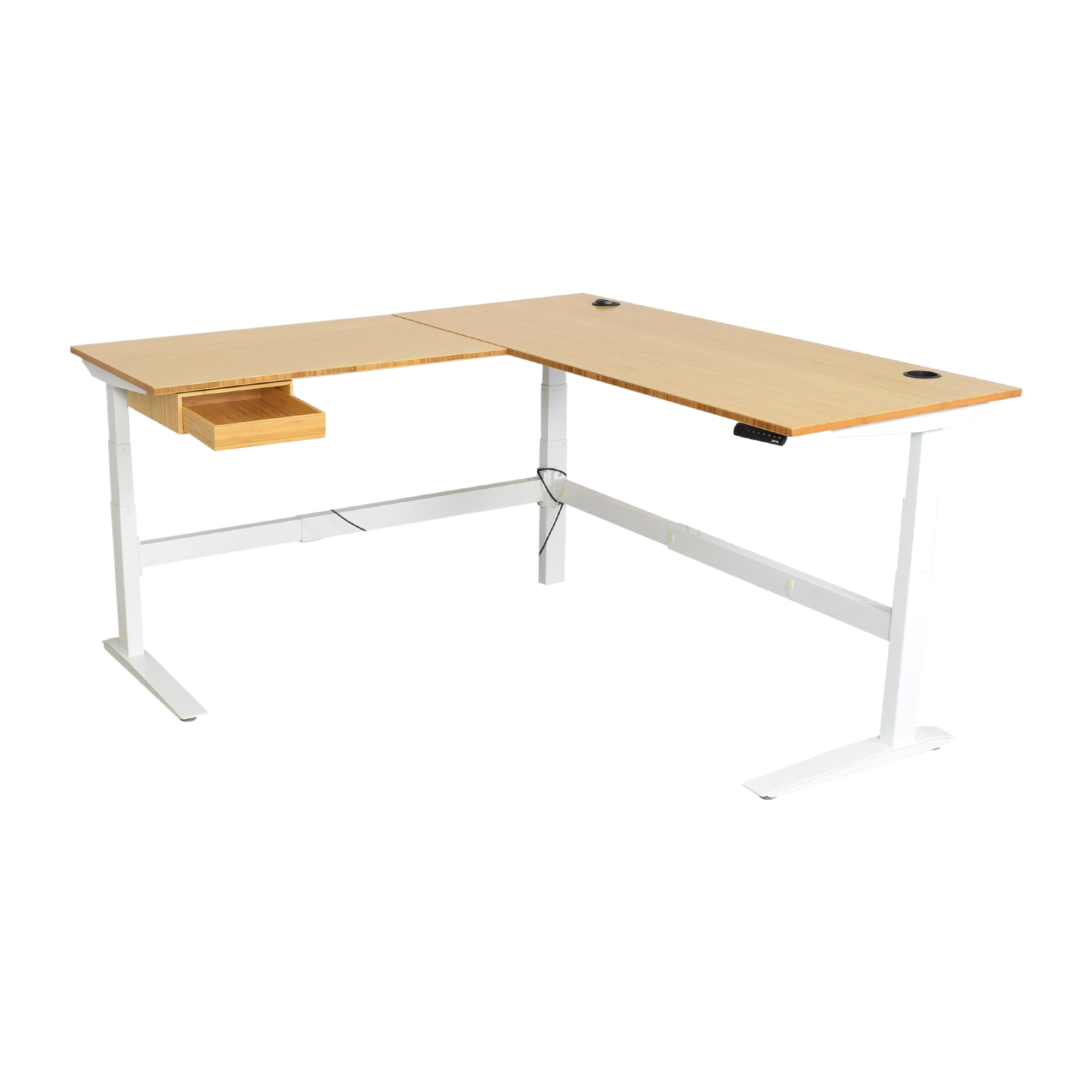 Fully Fully Jarvis L-Shaped Standing Desk with Drawer for sale