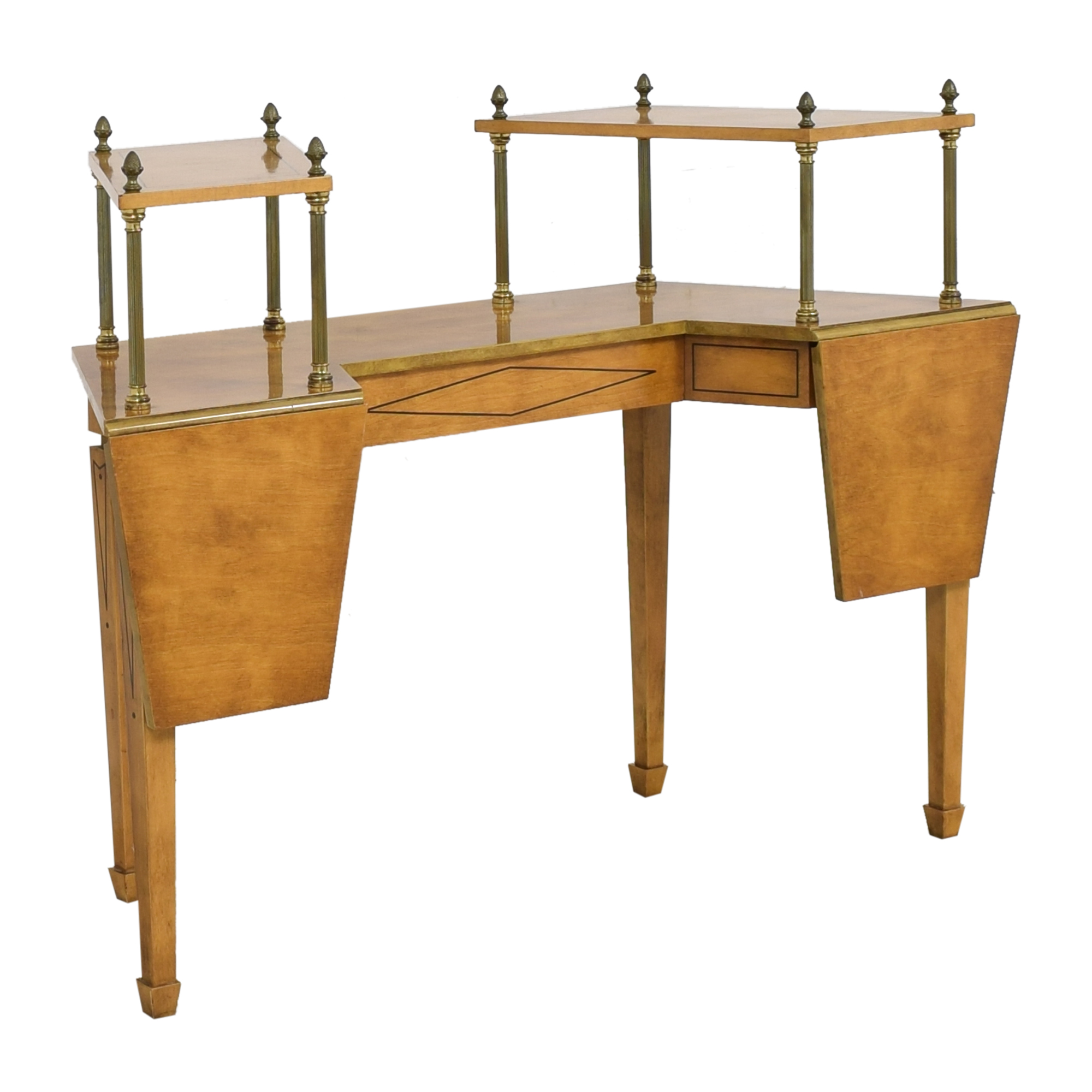 Mid Century Two Tiered Dropleaf Hunt Table for sale
