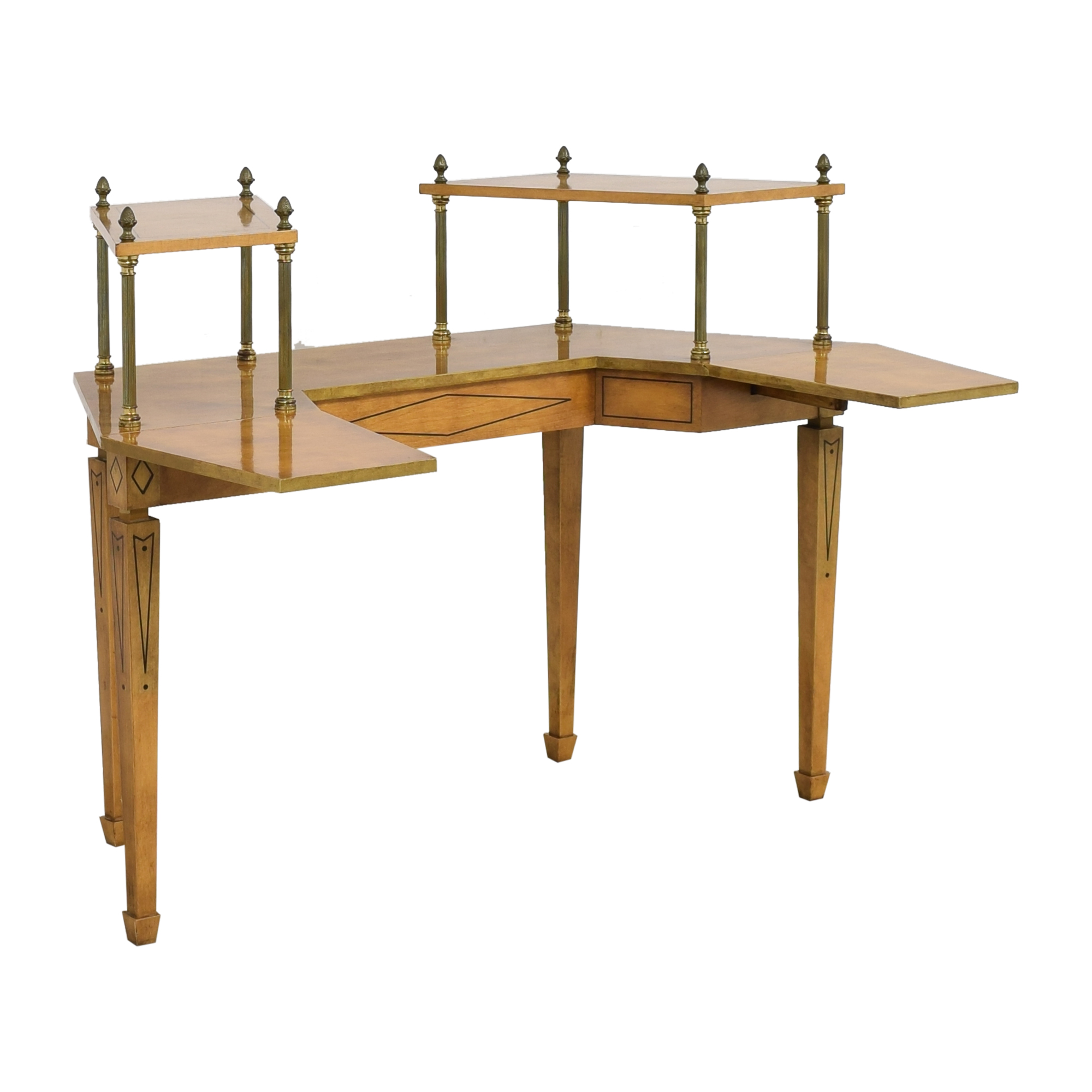 shop Mid Century Two Tiered Dropleaf Hunt Table  Accent Tables