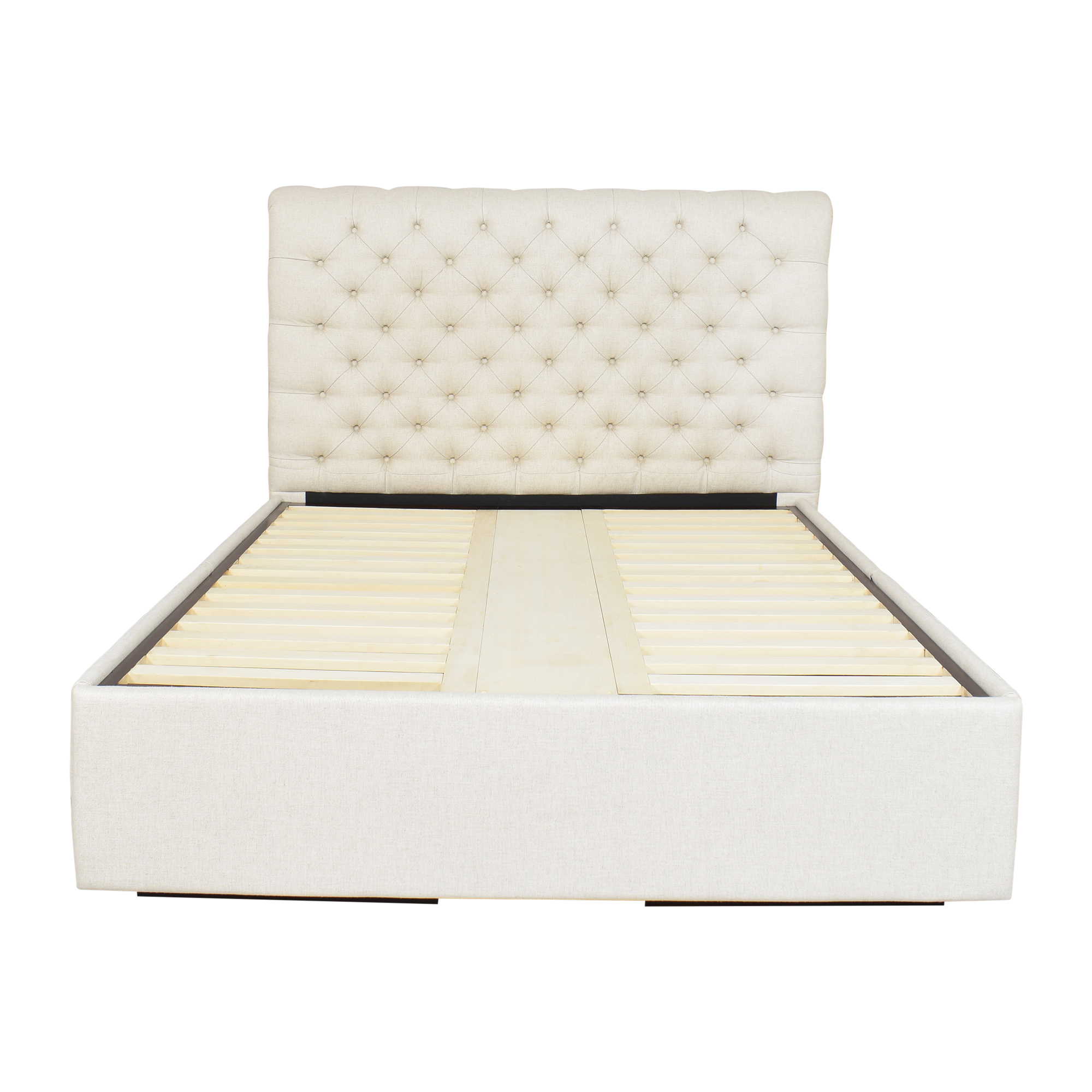 Pottery Barn Chesterfield Upholstered Queen Storage Bed / Beds