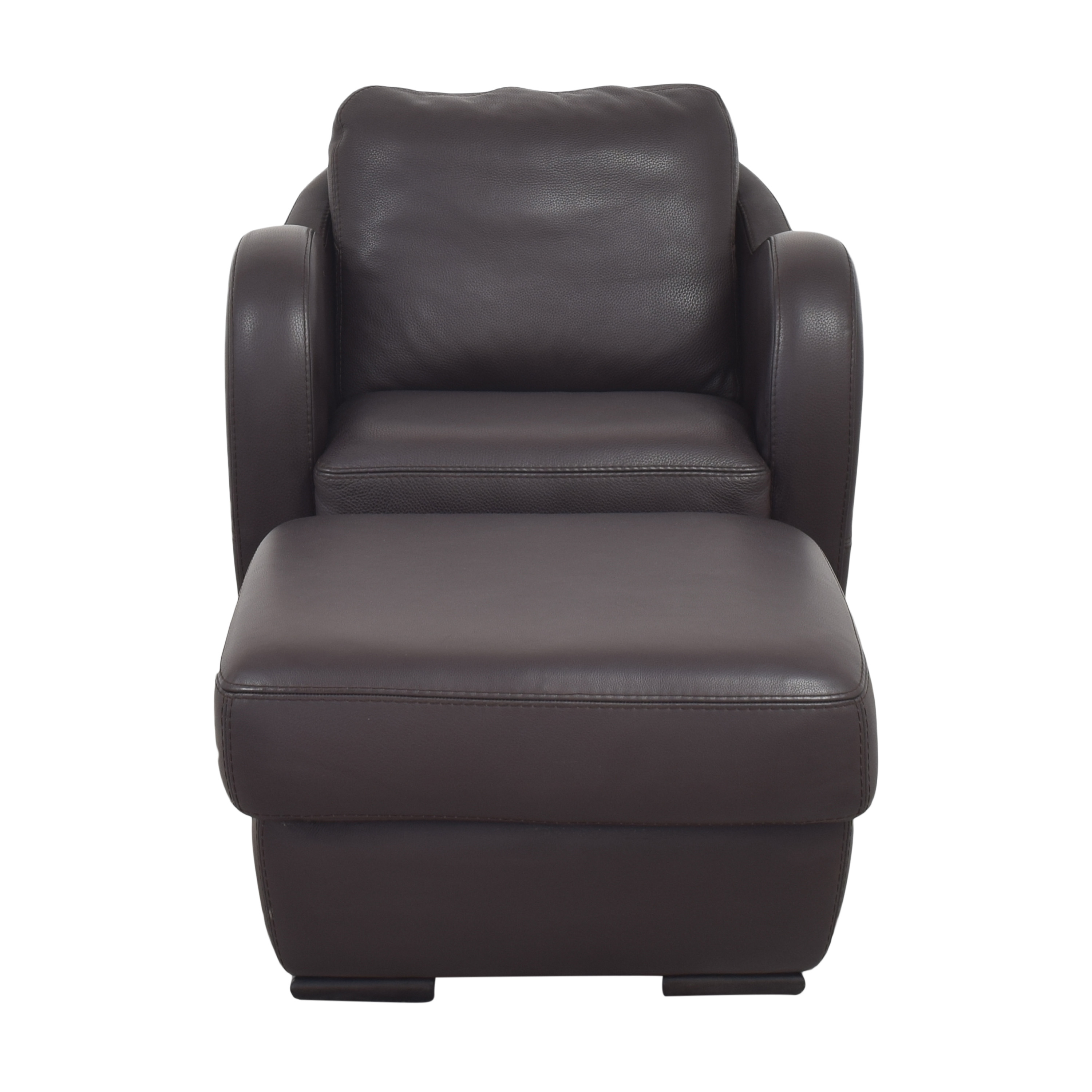 Maurice Villency Maurice Villency Club Chair with Ottoman nyc