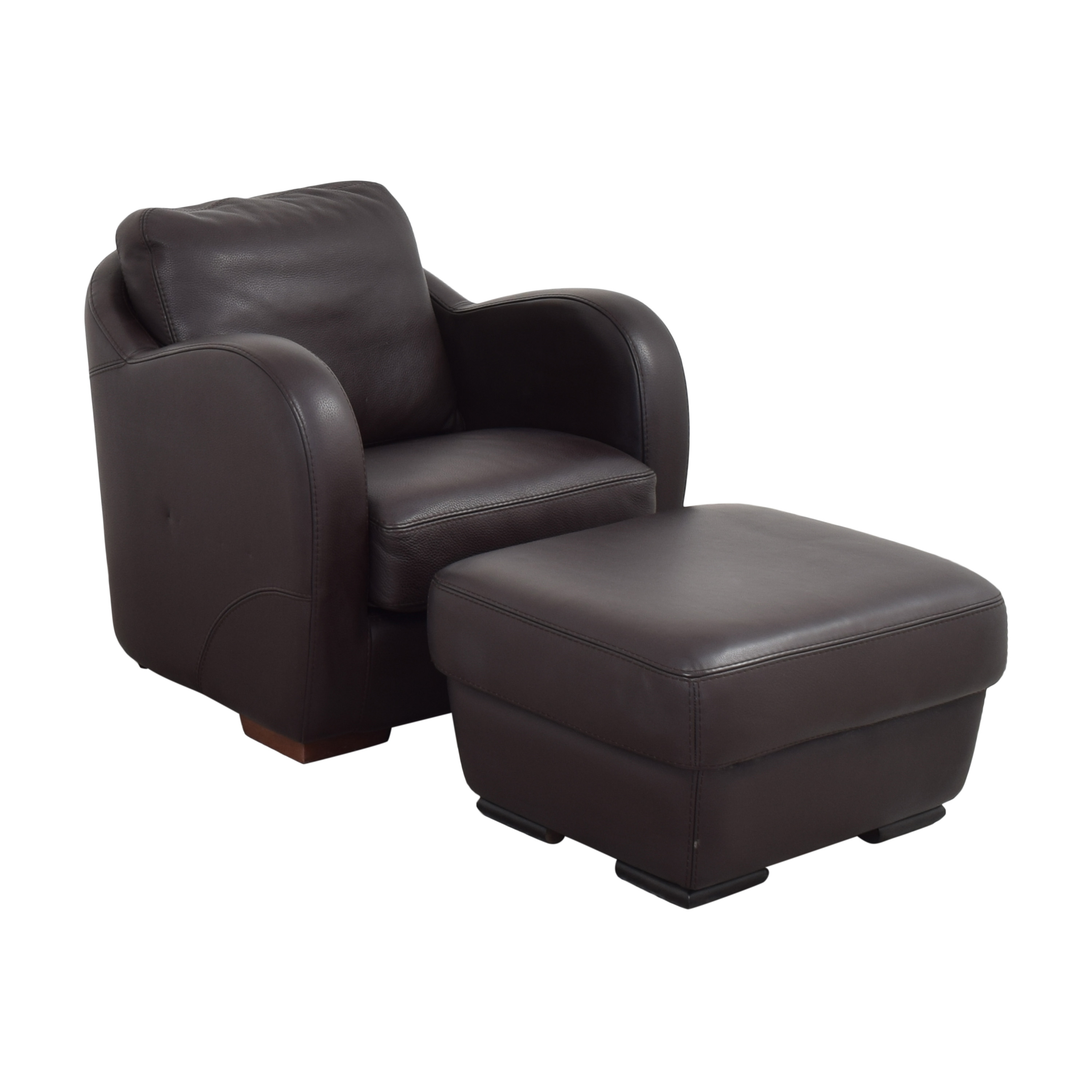 buy Maurice Villency Maurice Villency Club Chair with Ottoman online