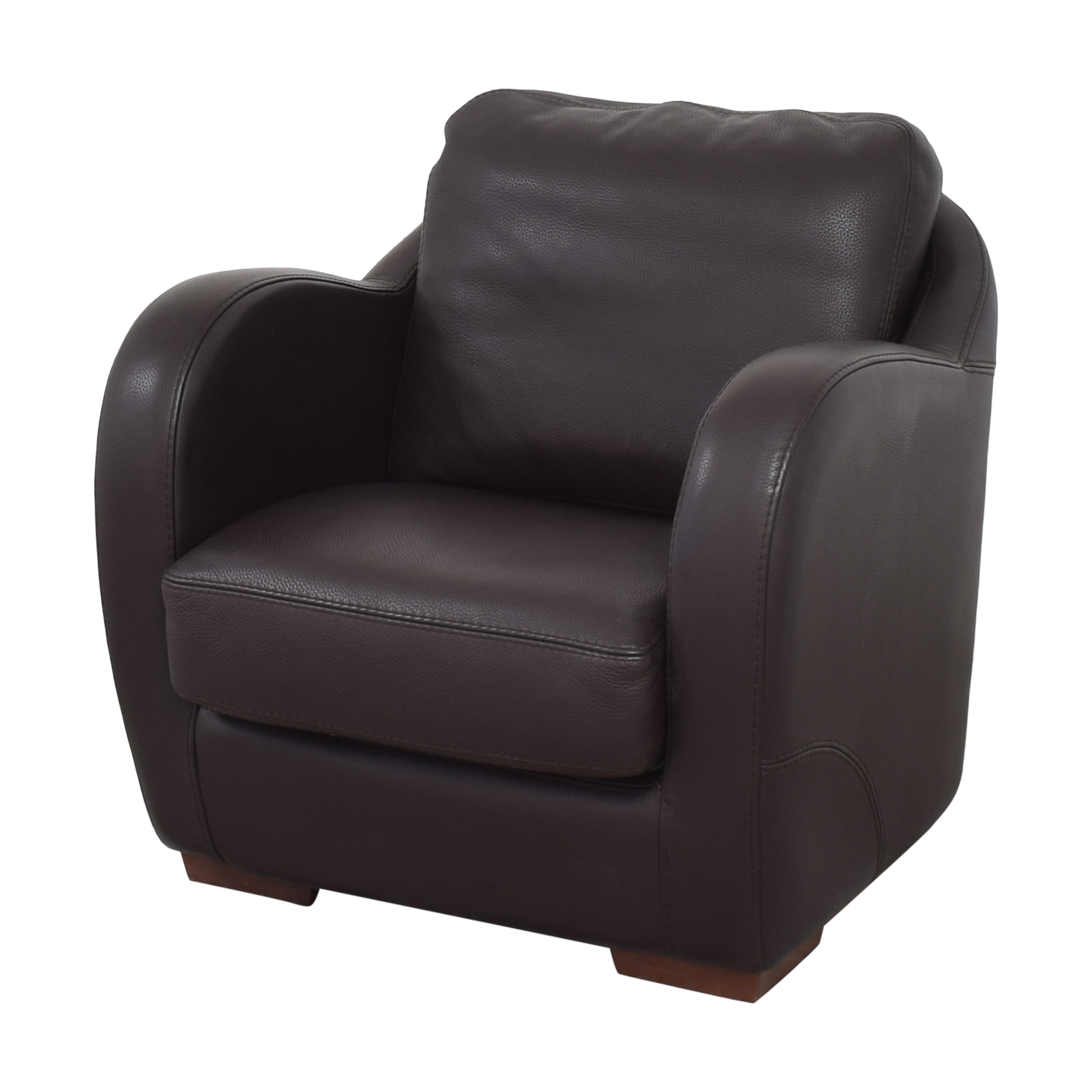 shop Maurice Villency Club Chair with Ottoman Maurice Villency Chairs