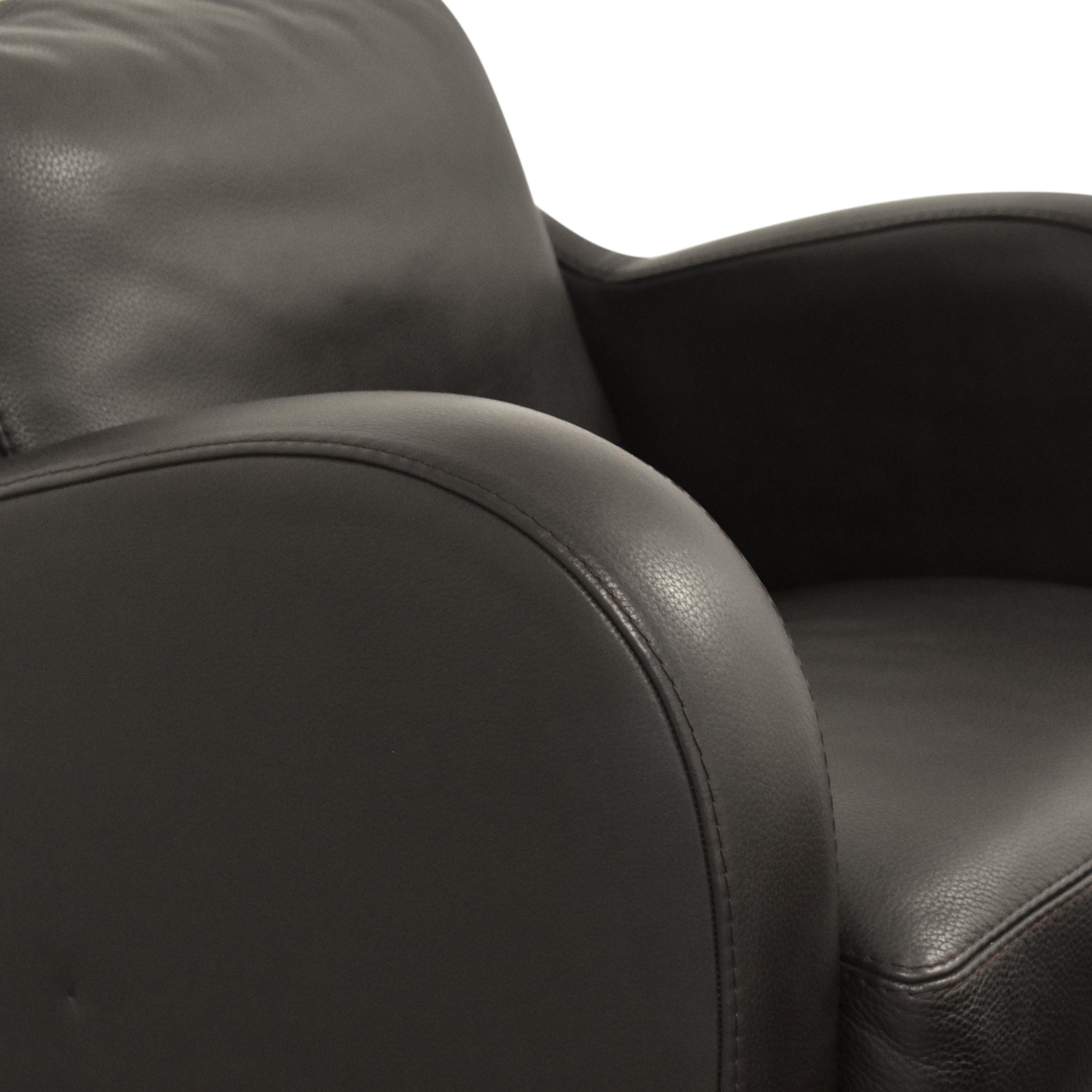 Maurice Villency Maurice Villency Club Chair with Ottoman pa