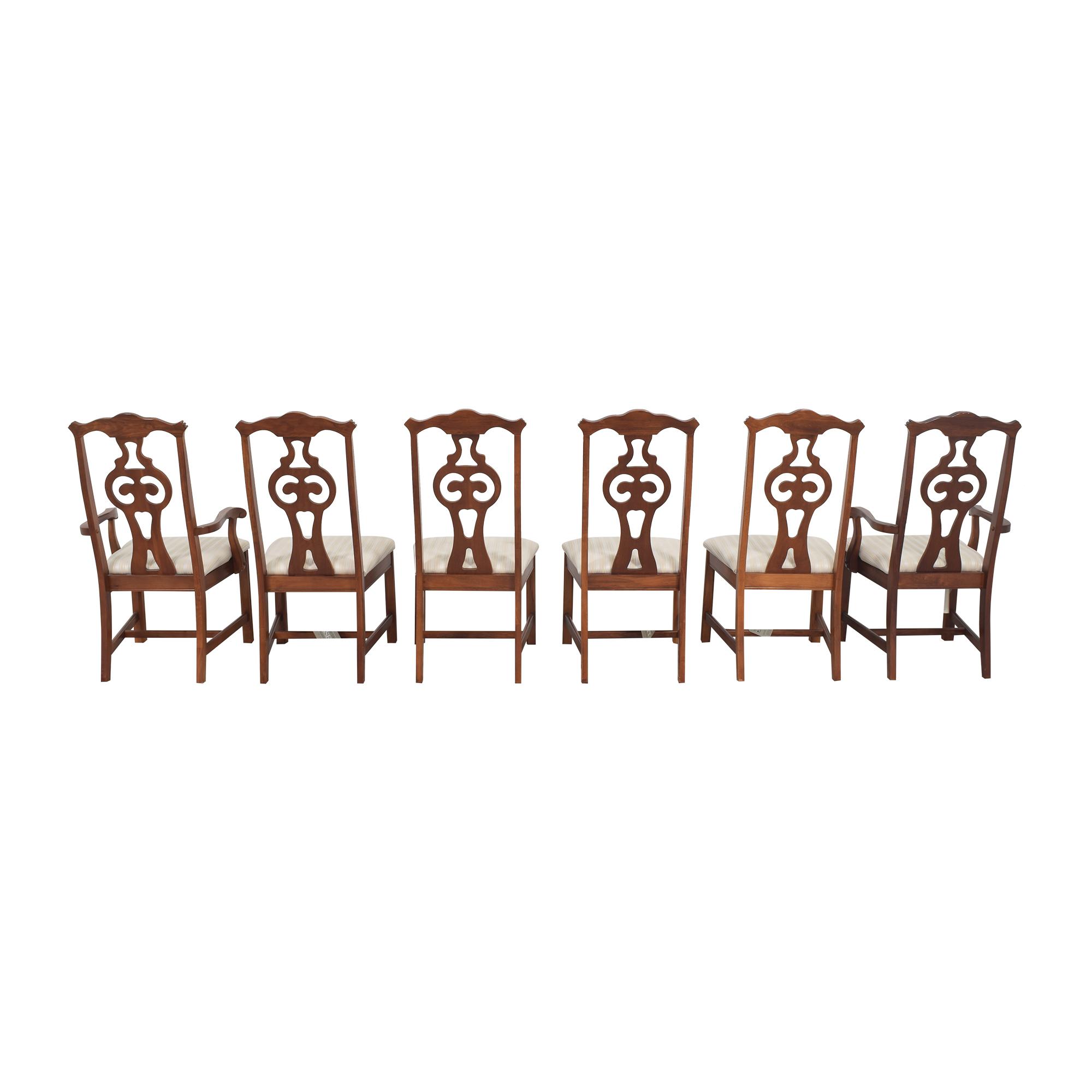Bassett Furniture Bassett Furniture Upholstered Dining Chairs second hand