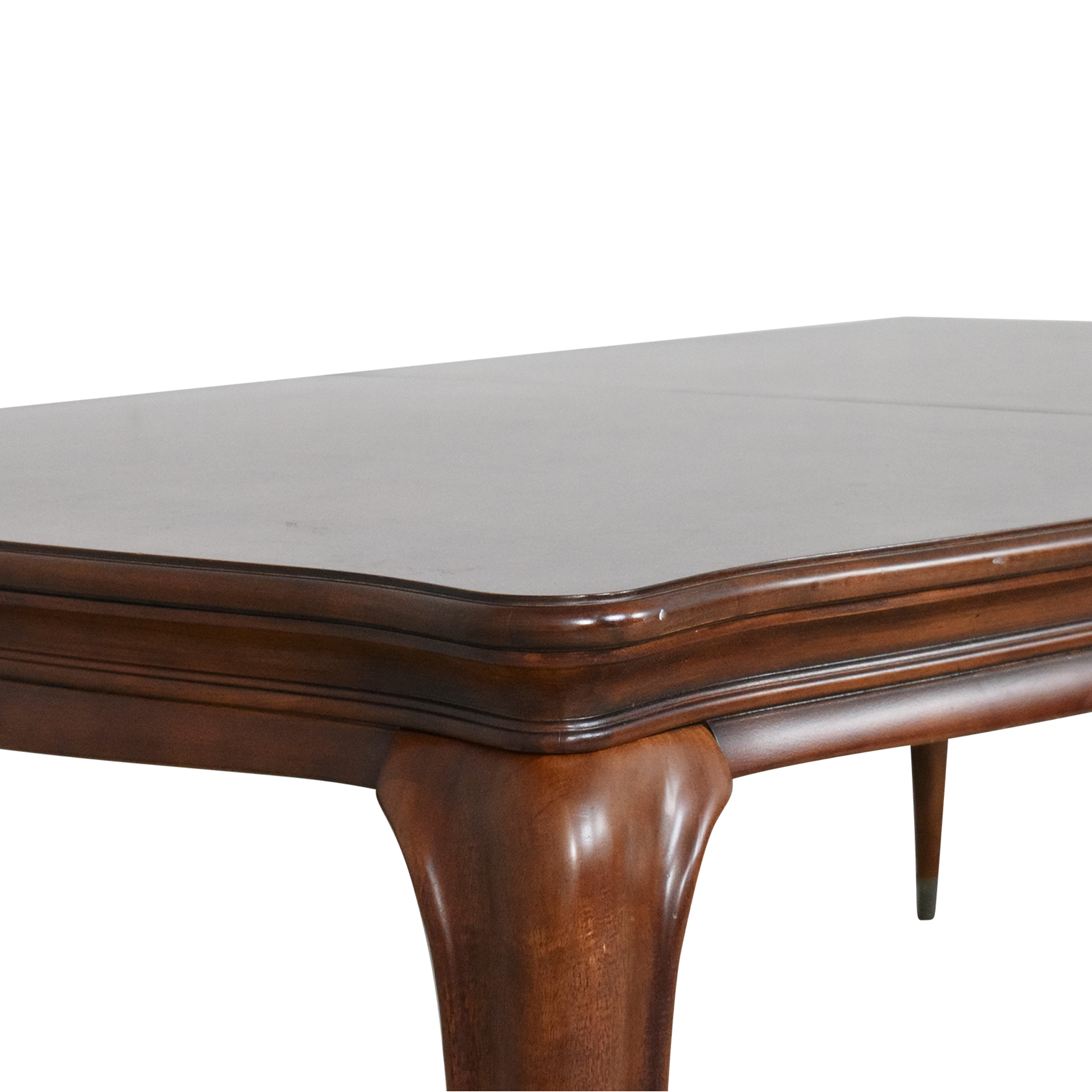 American Drew Extendable Queen Anne Dining Table American Drew