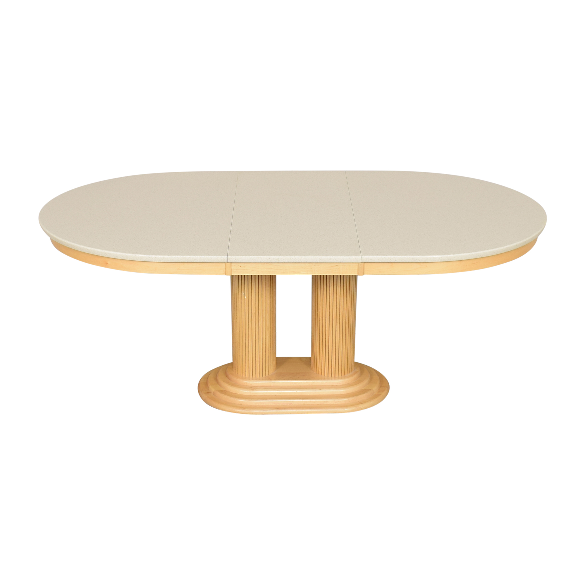 Saloom Extendable Pedestal Dining Table sale