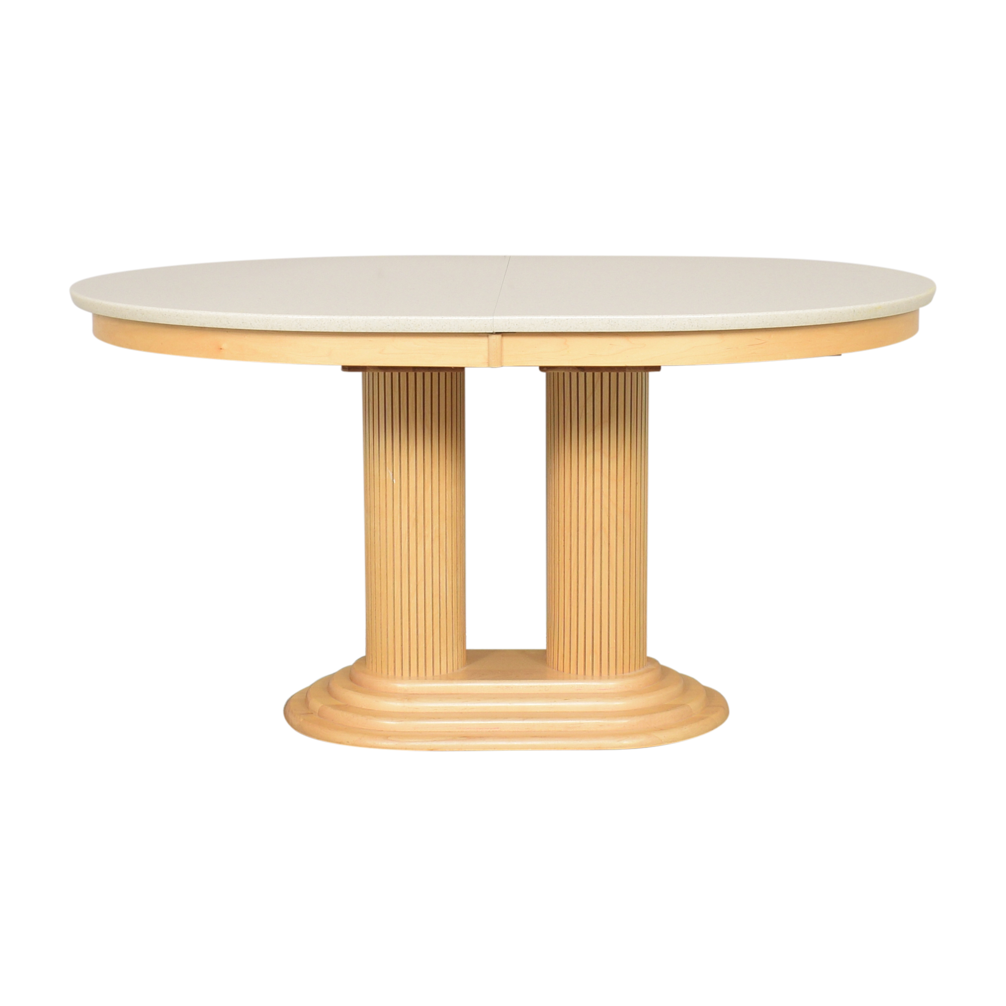 Saloom Extendable Pedestal Dining Table Saloom