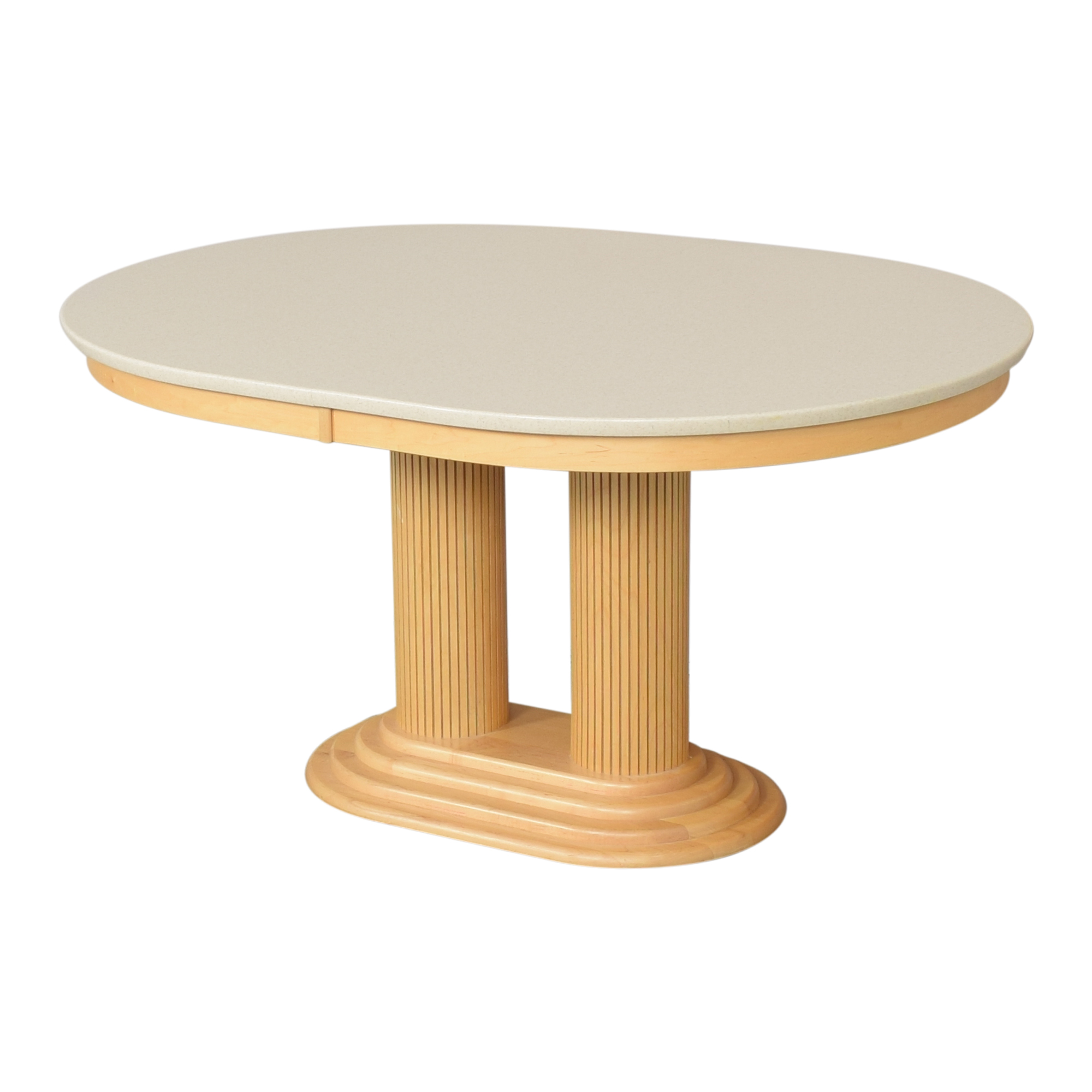 shop Saloom Extendable Pedestal Dining Table Saloom Tables