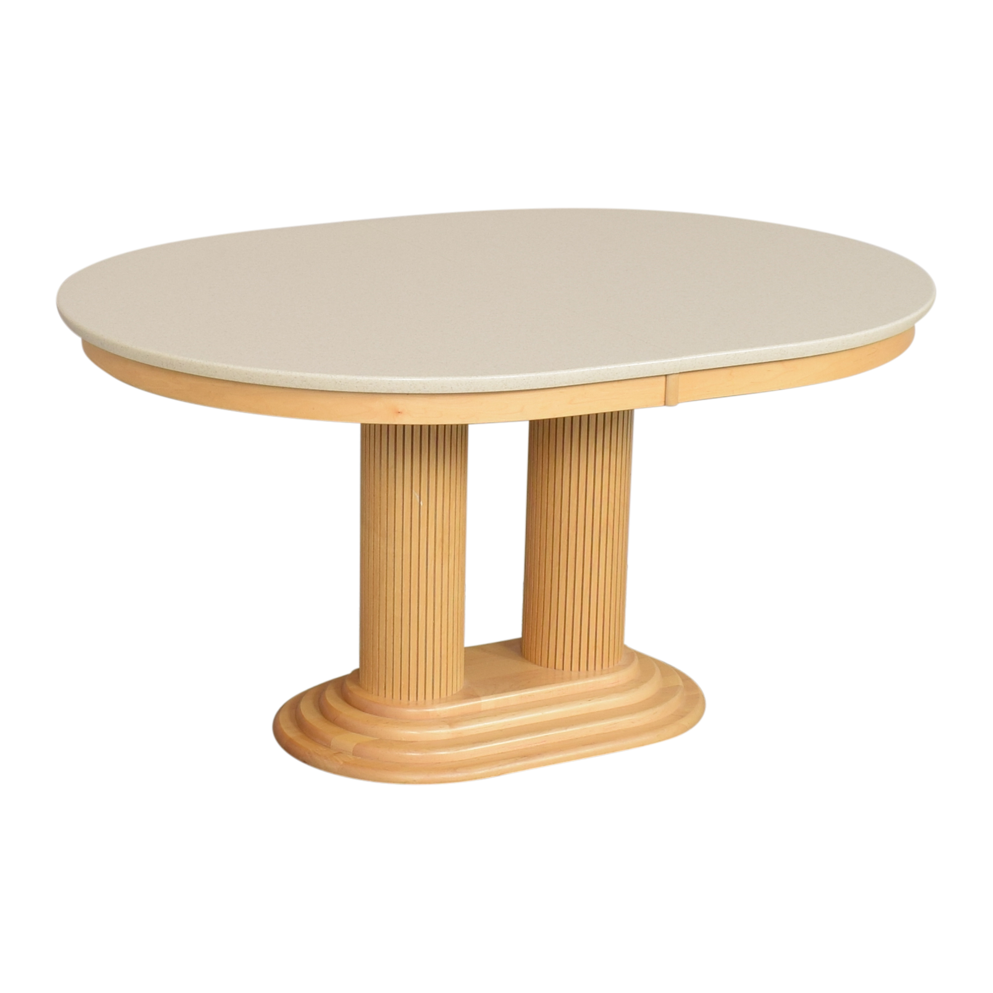 Saloom Saloom Extendable Pedestal Dining Table dimensions