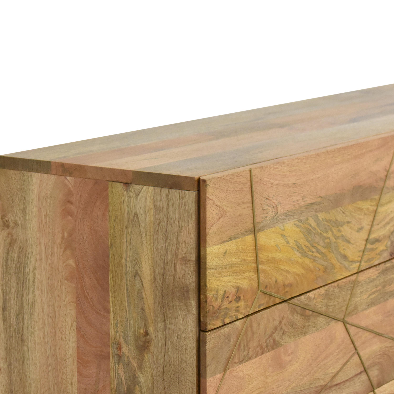 West Elm Roar & Rabbit Geo Inlay Six Drawer Dresser / Storage