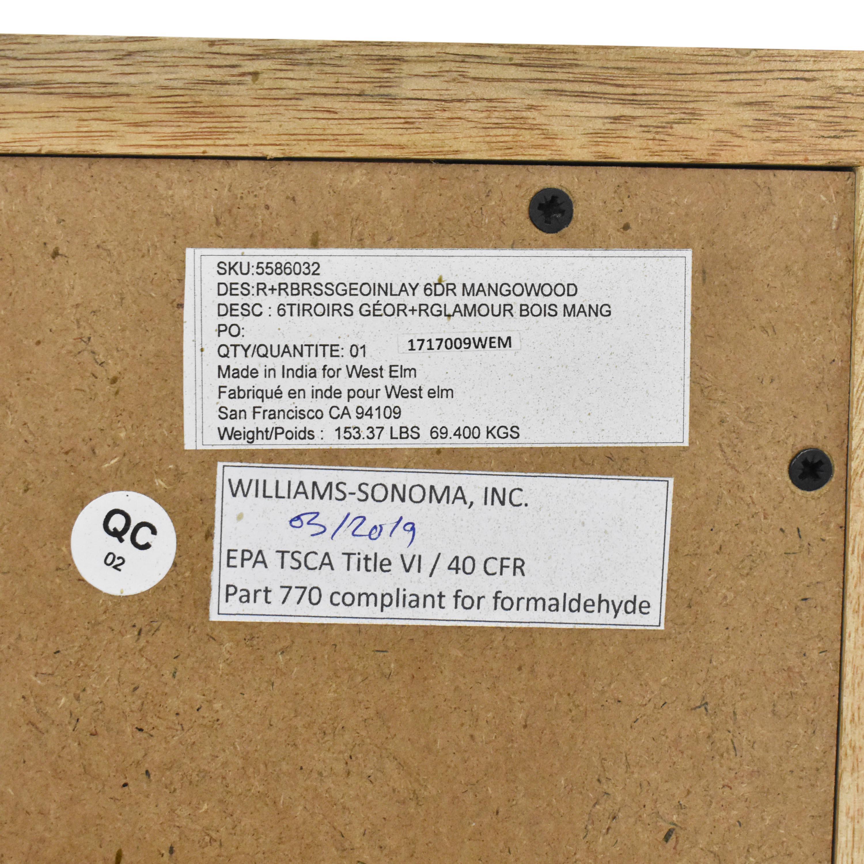 West Elm West Elm Roar & Rabbit Geo Inlay Six Drawer Dresser for sale