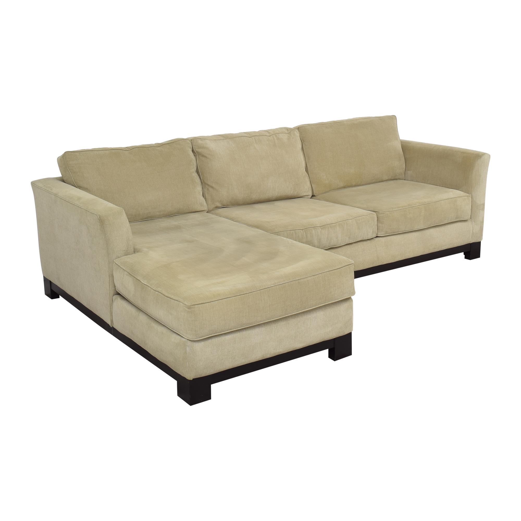 shop Macy's Elliot II Two Piece Chaise Sectional Sofa Macy's Sofas