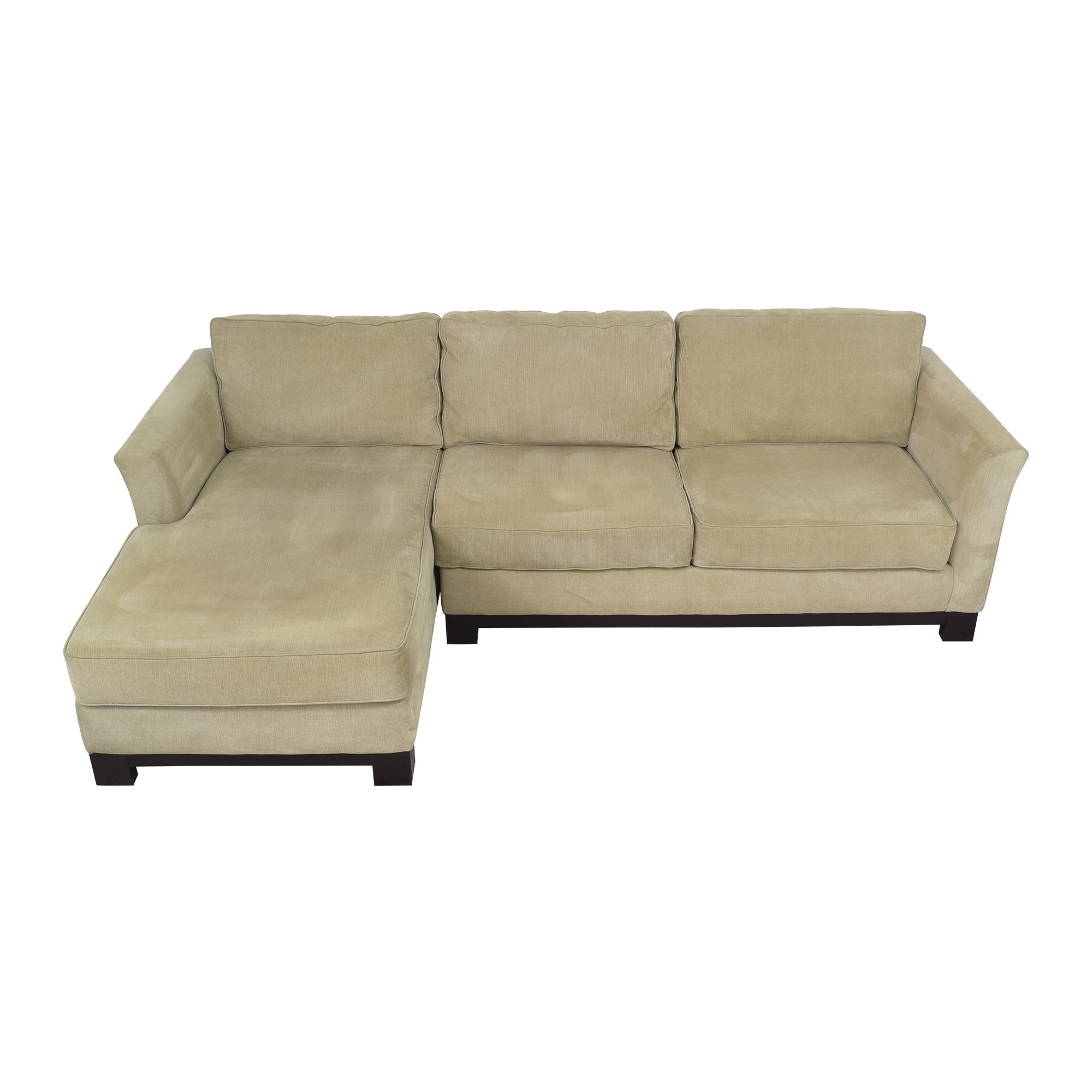 Macy's Macy's Elliot II Two Piece Chaise Sectional Sofa on sale