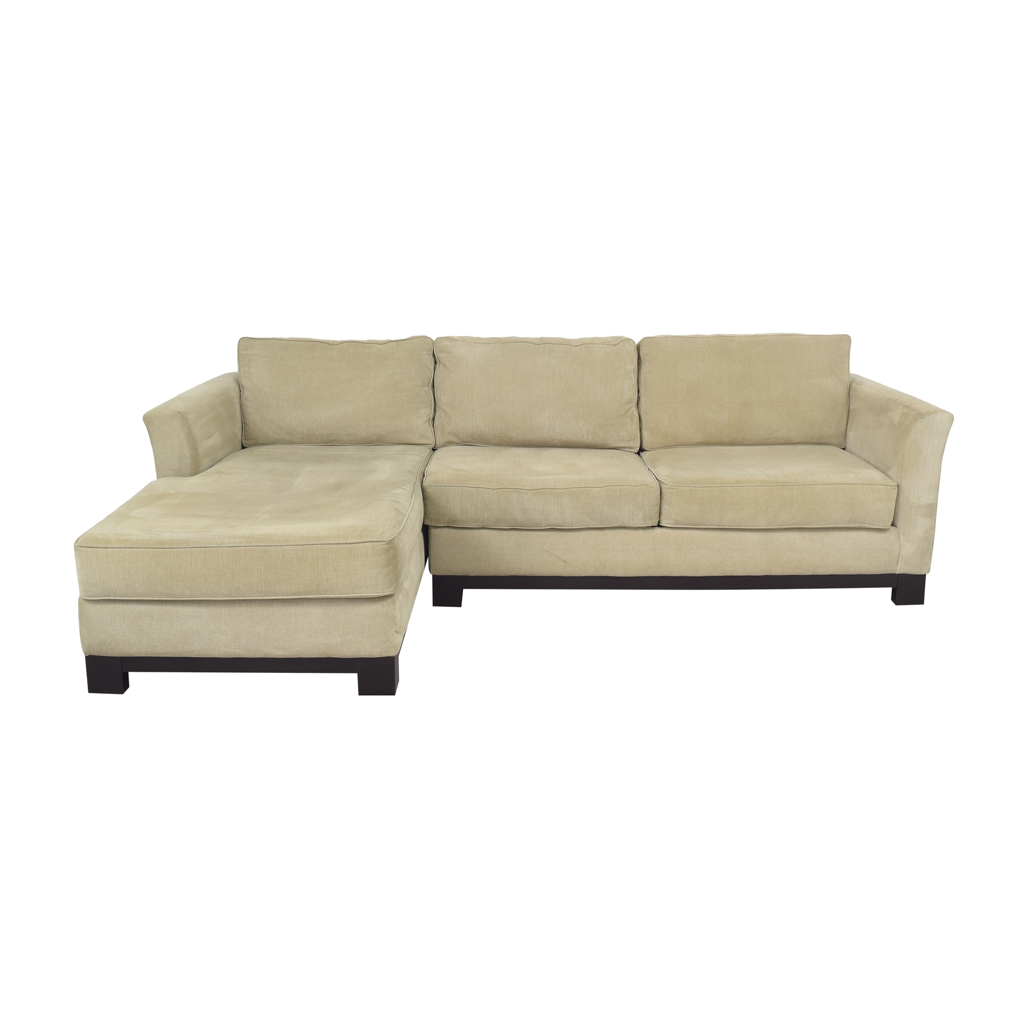 Macy's Macy's Elliot II Two Piece Chaise Sectional Sofa second hand