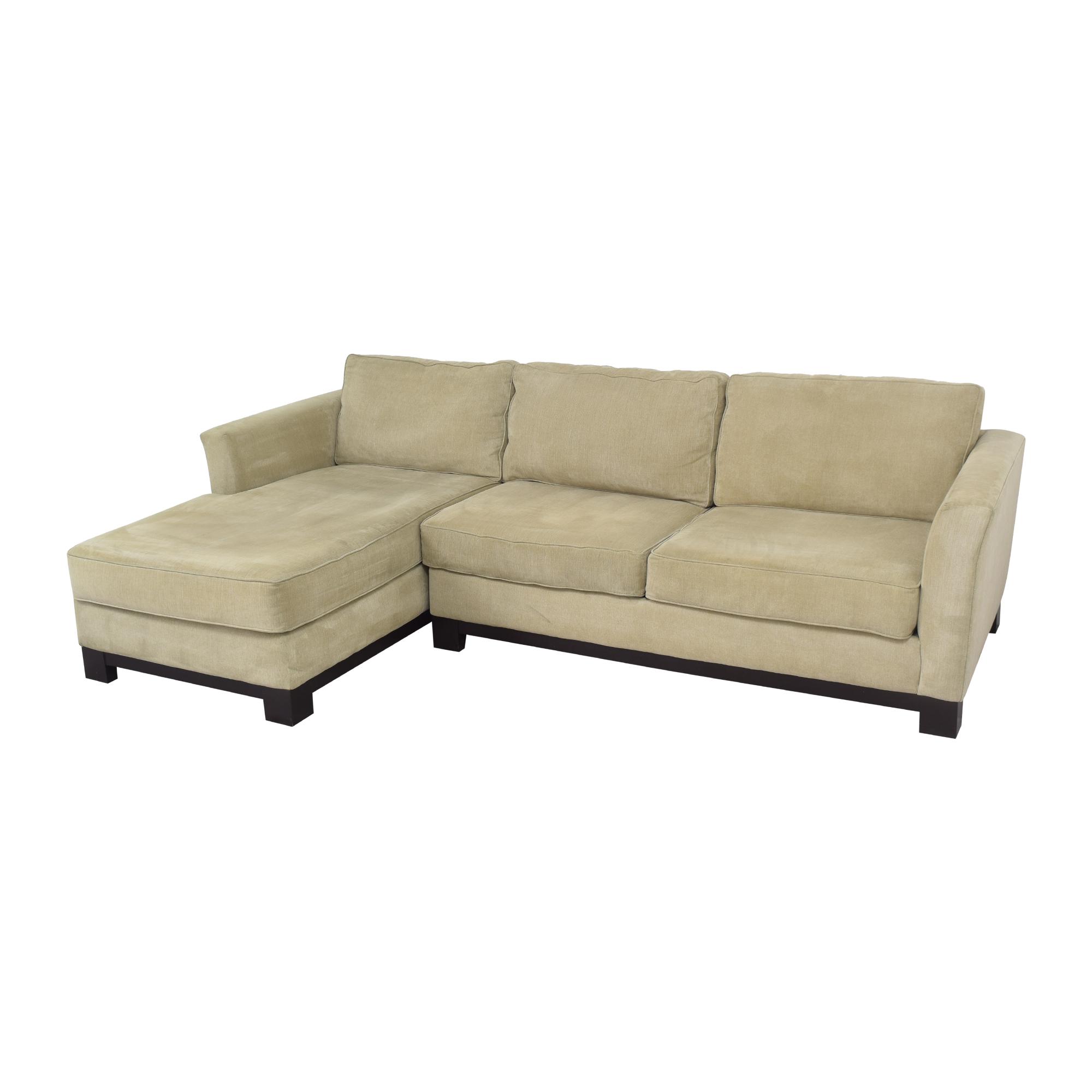 buy Macy's Elliot II Two Piece Chaise Sectional Sofa Macy's