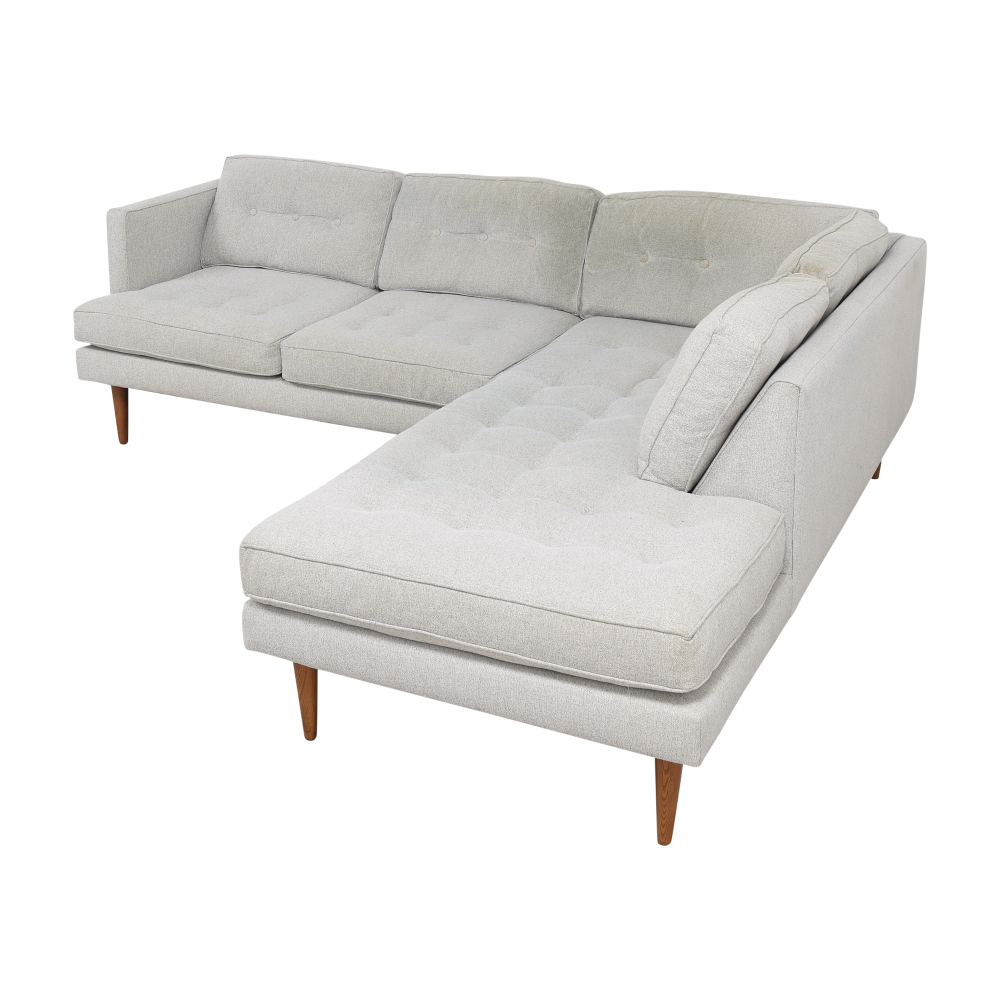 West Elm Terminal Chaise Sectional Sofa / Sofas