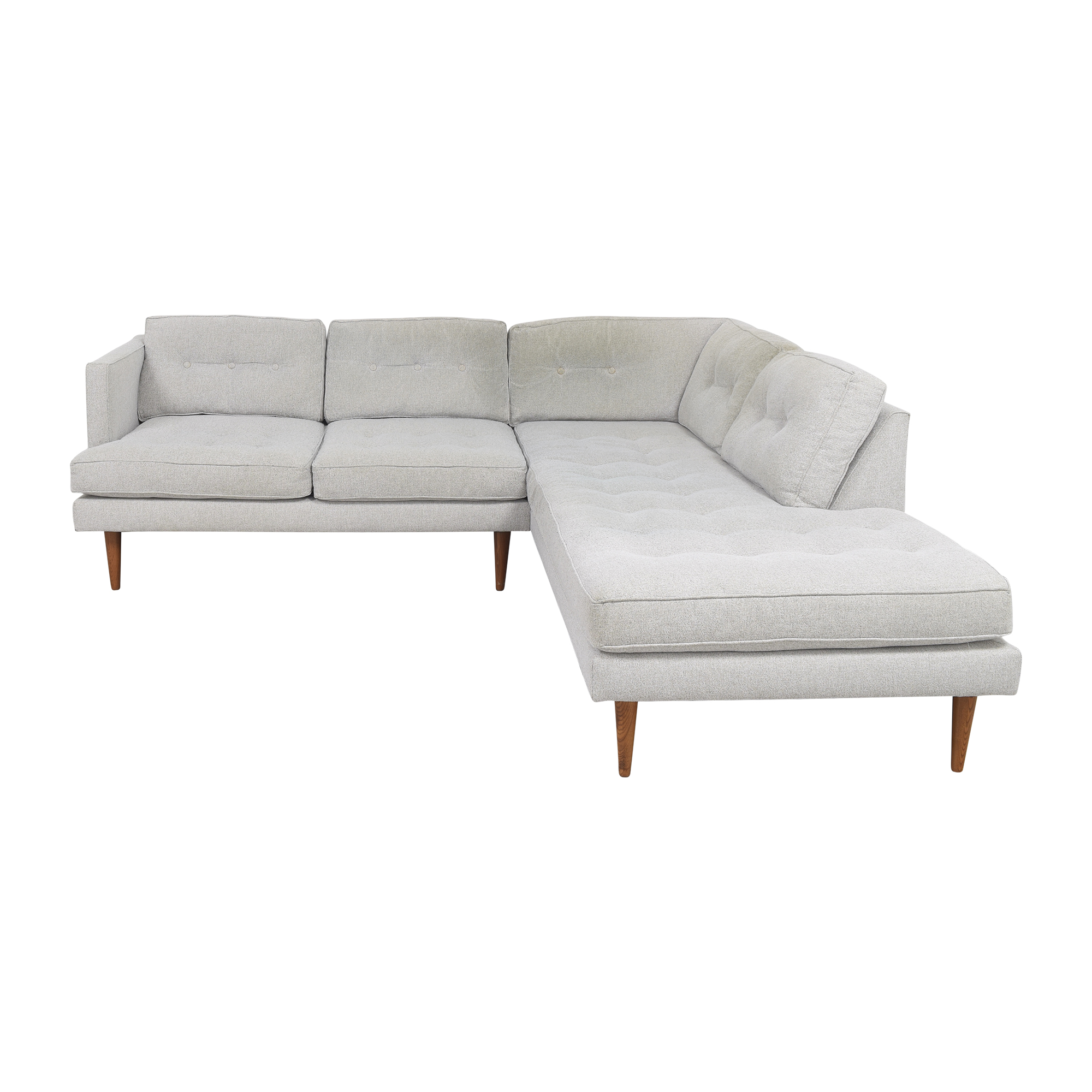 West Elm West Elm Terminal Chaise Sectional Sofa dimensions