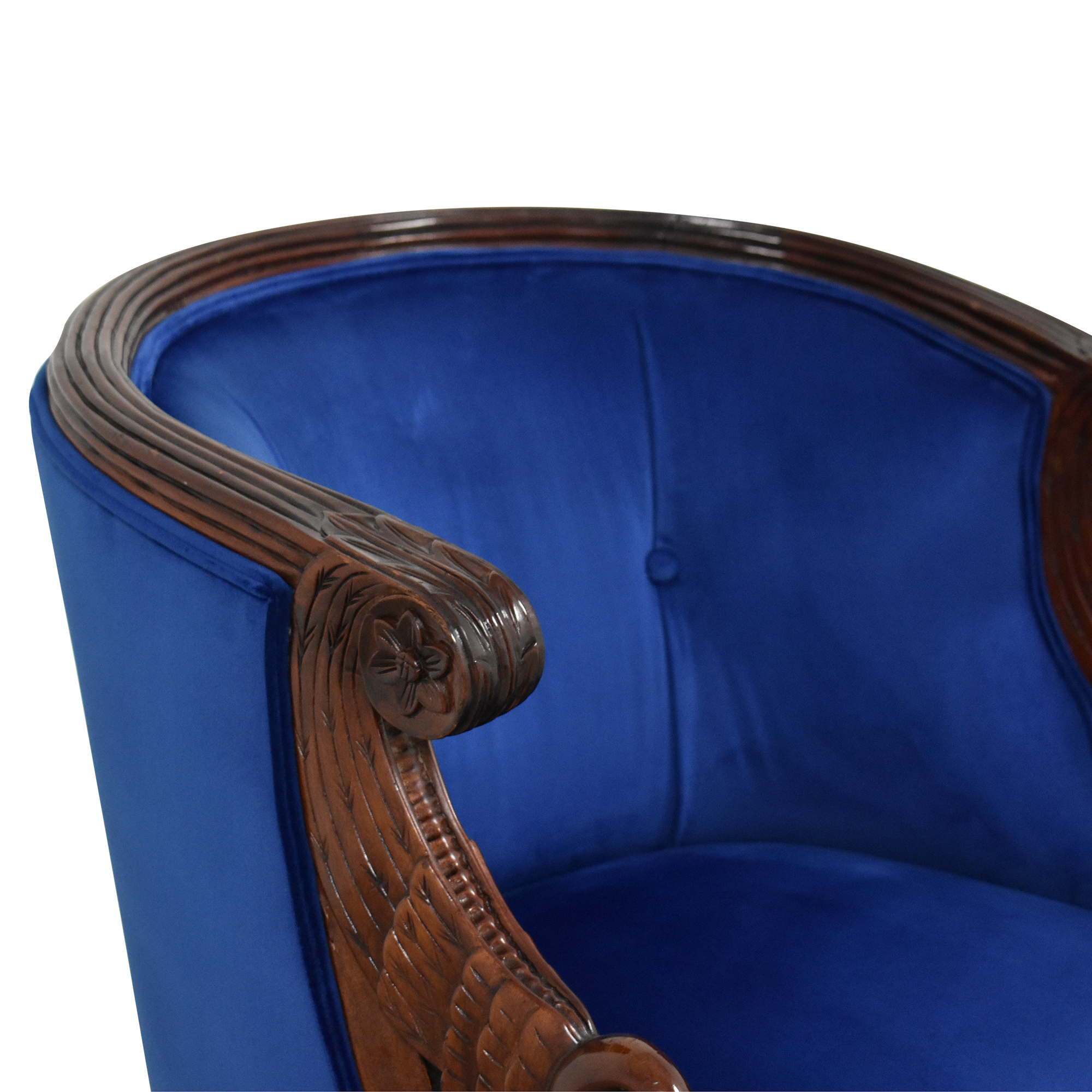 Carved Swan Tub Chair used