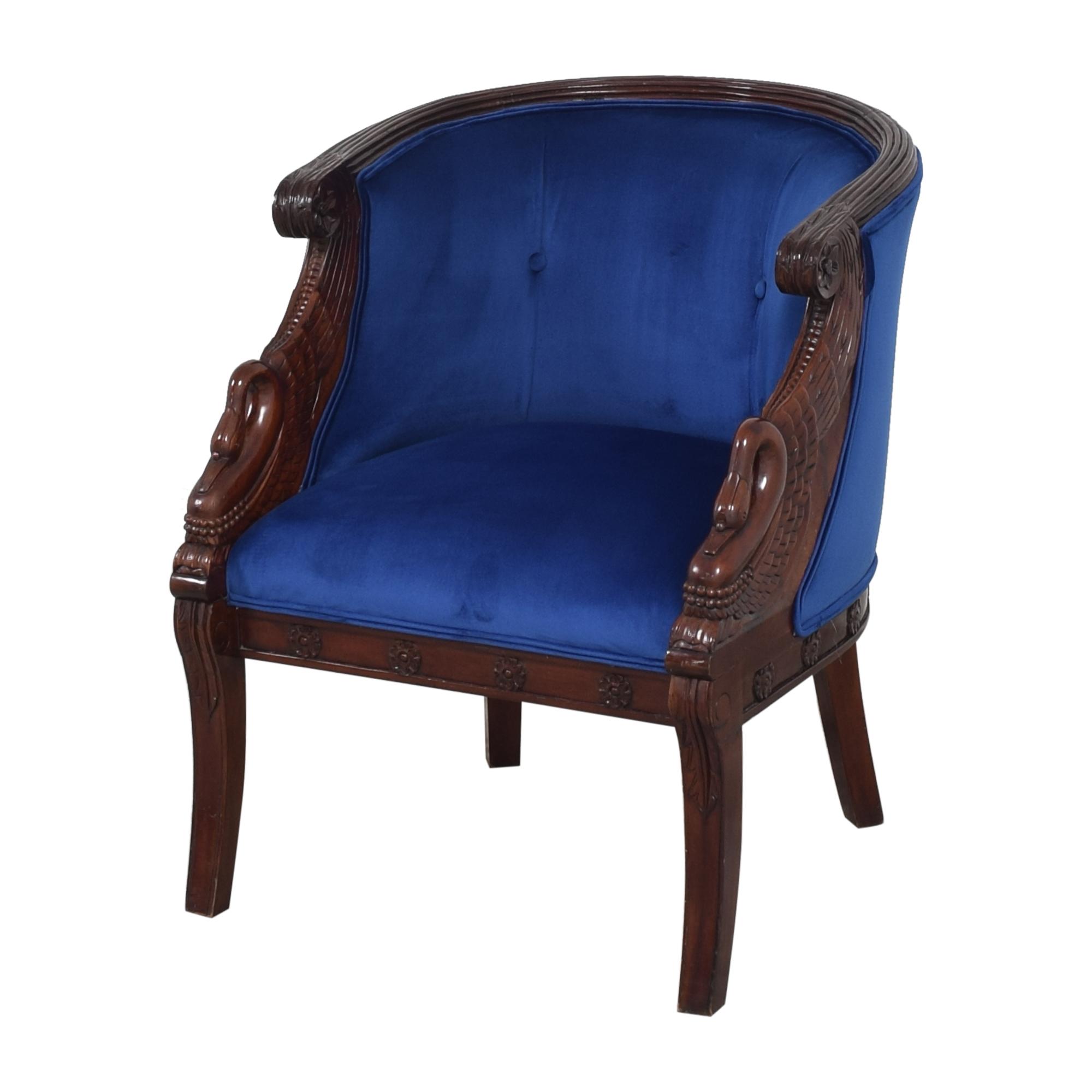 Carved Swan Tub Chair sale