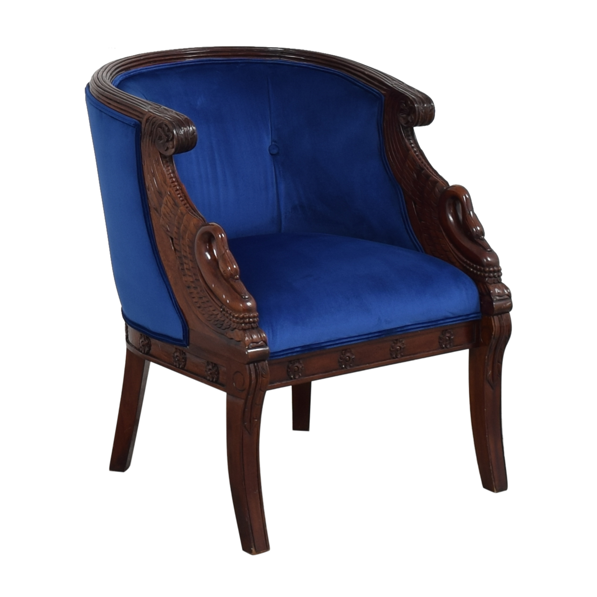 Carved Swan Tub Chair ct