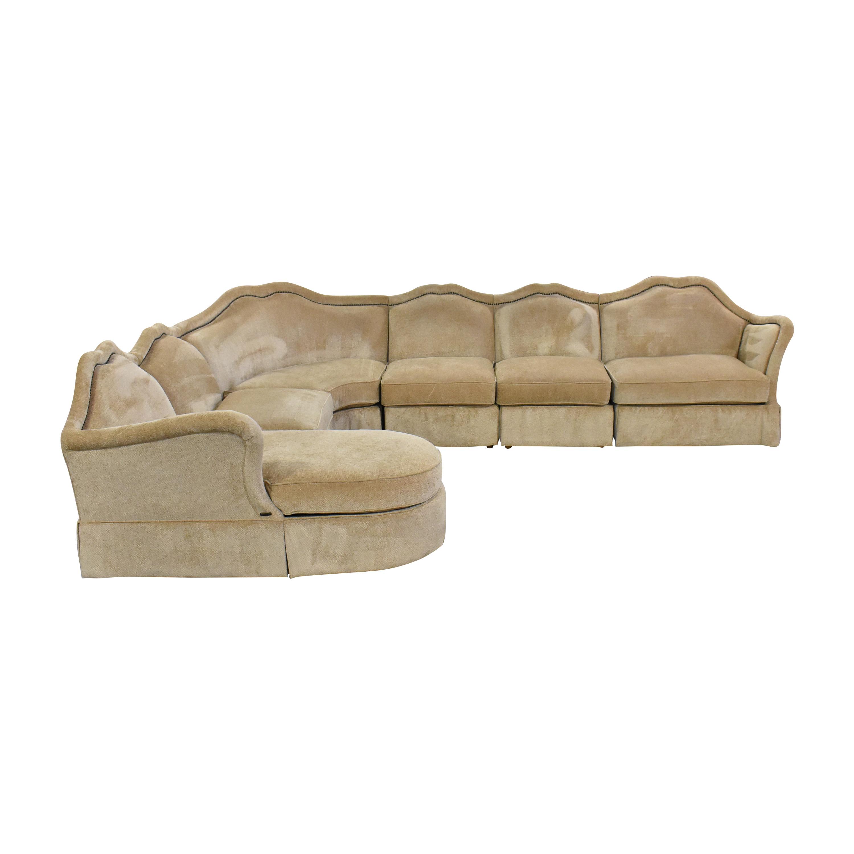 AICO AICO Toledo Chaise Sectional Sofa discount