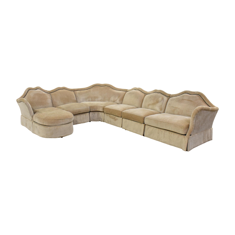 AICO AICO Toledo Chaise Sectional Sofa nyc