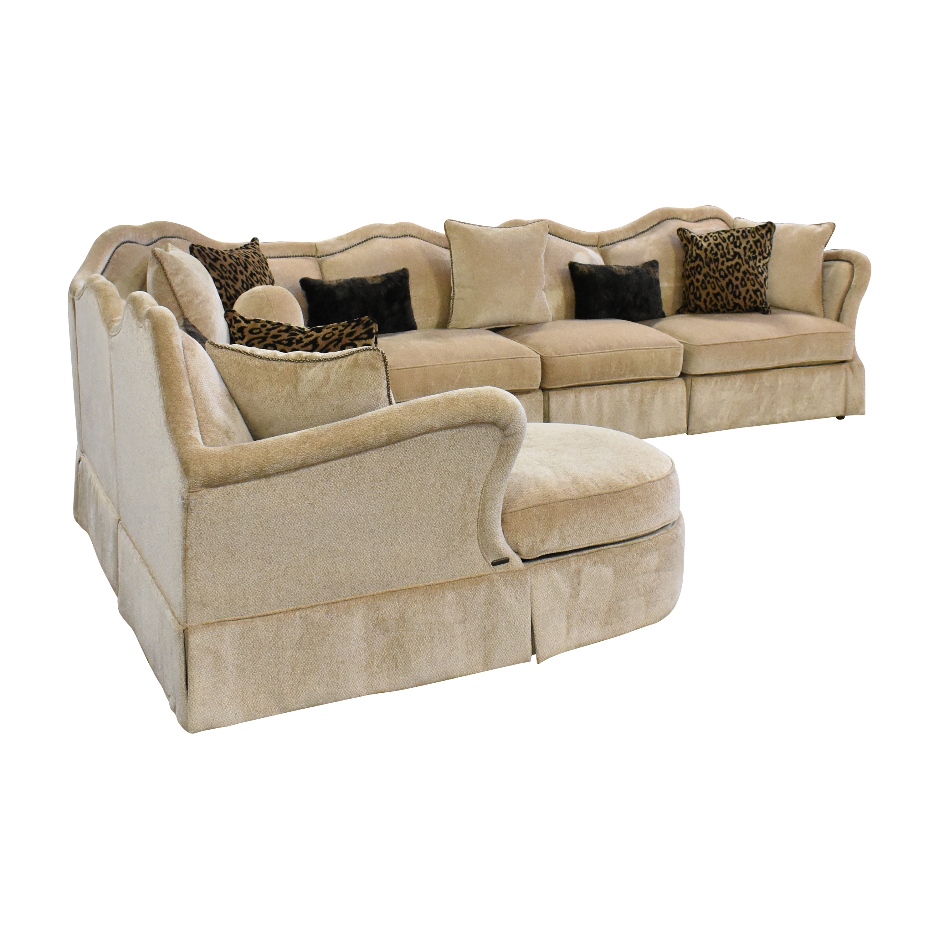 buy AICO Toledo Chaise Sectional Sofa AICO Sectionals