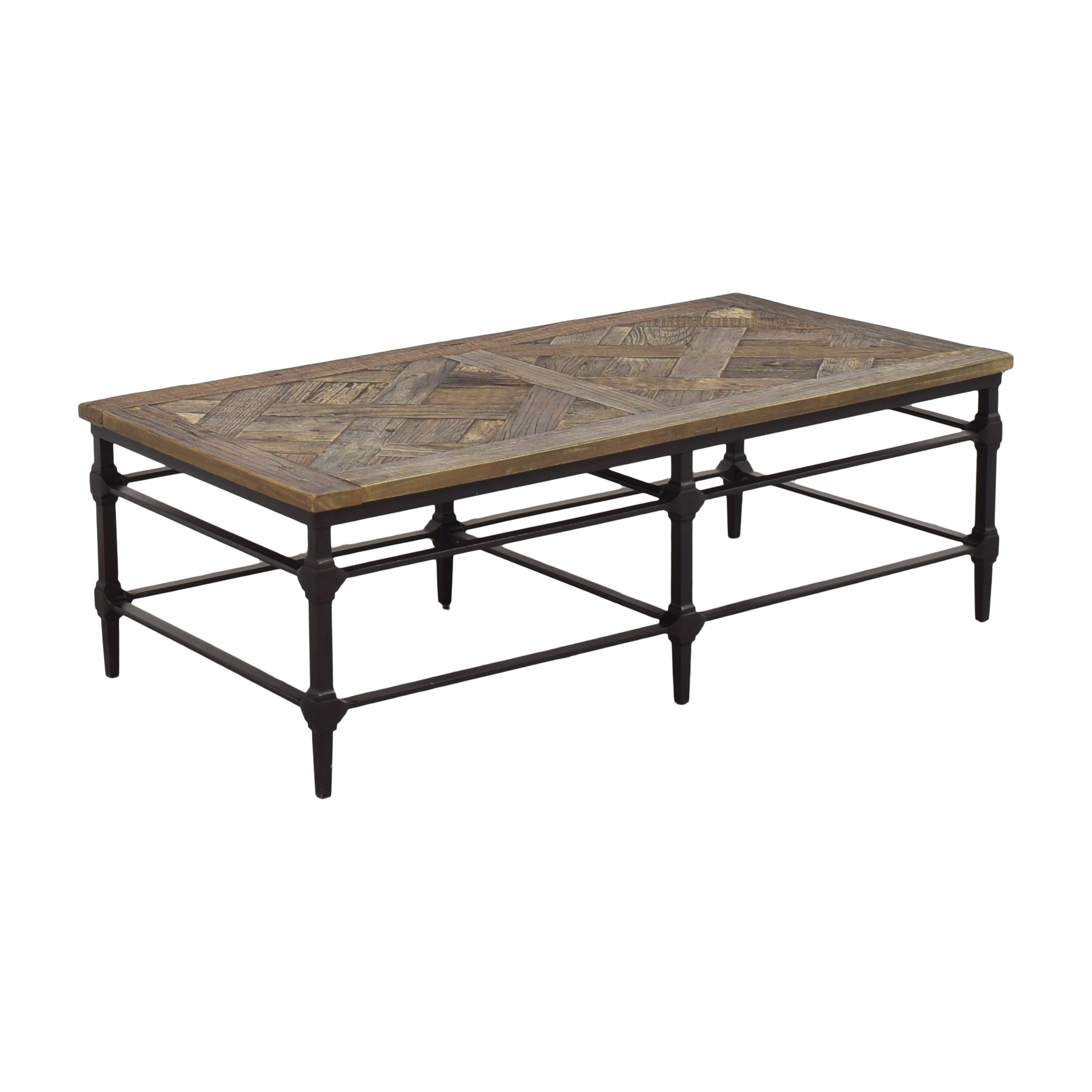 Pottery Barn Pottery Barn Parquet Reclaimed Rectangular Coffee Table price