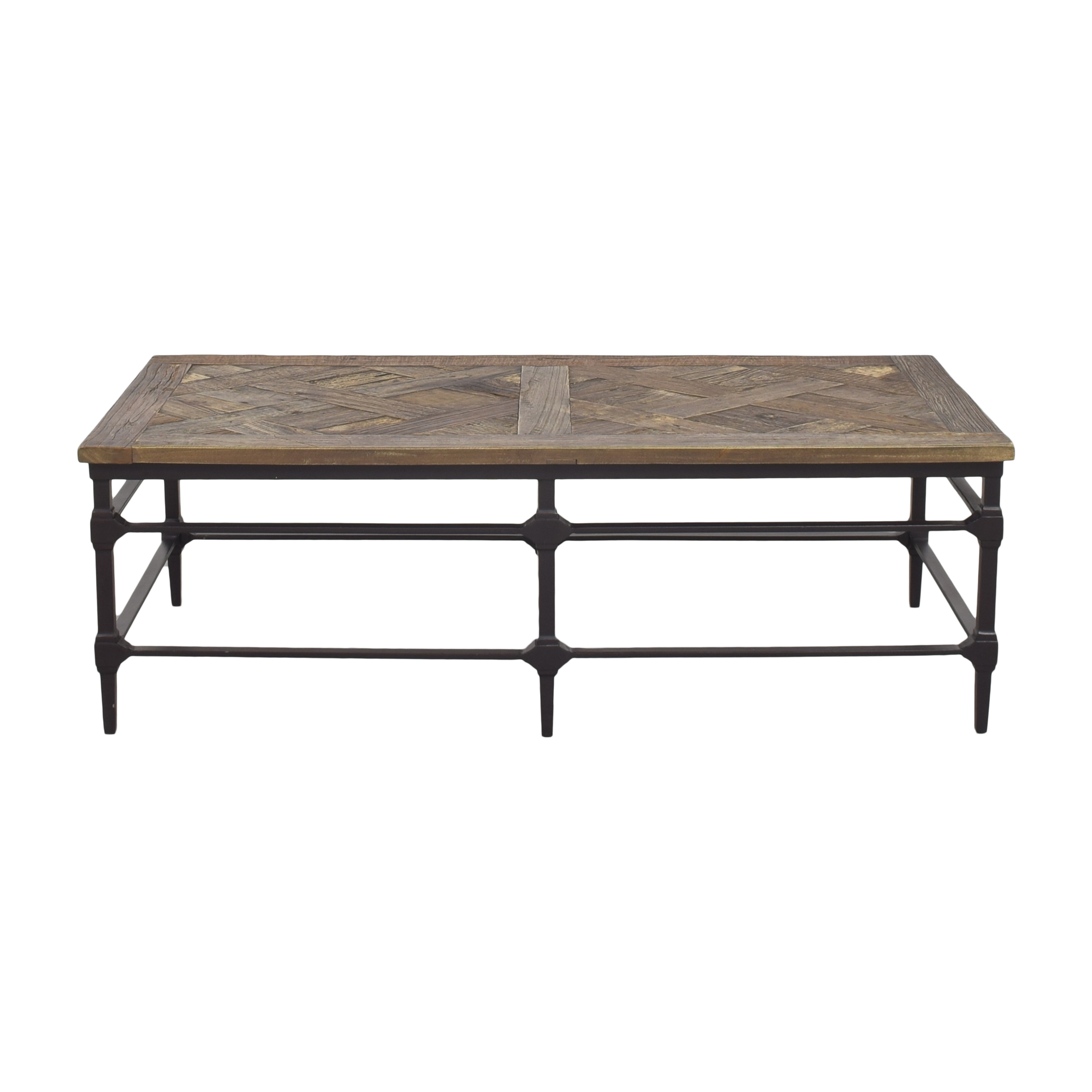 shop Pottery Barn Pottery Barn Parquet Reclaimed Rectangular Coffee Table online