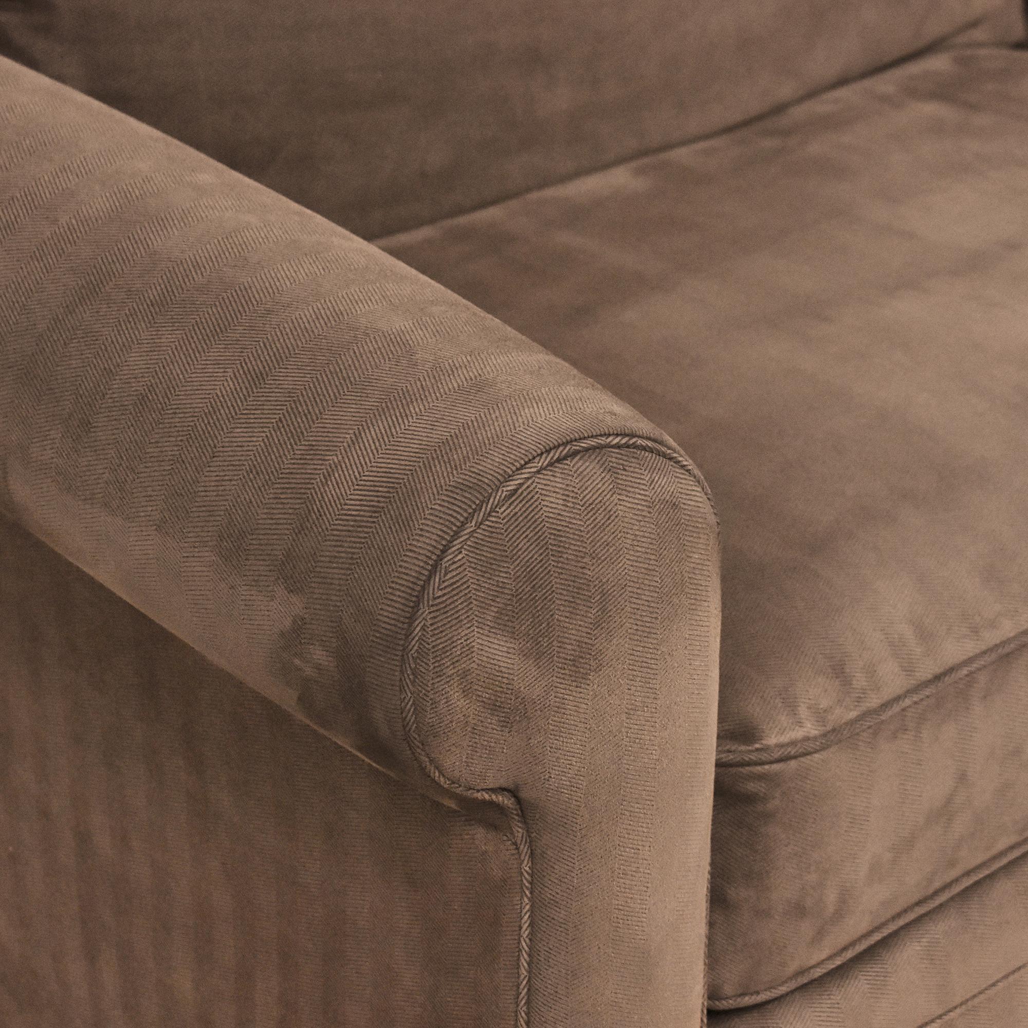 Macy's Macy's Modern Concepts Two Cushion Sofa brown
